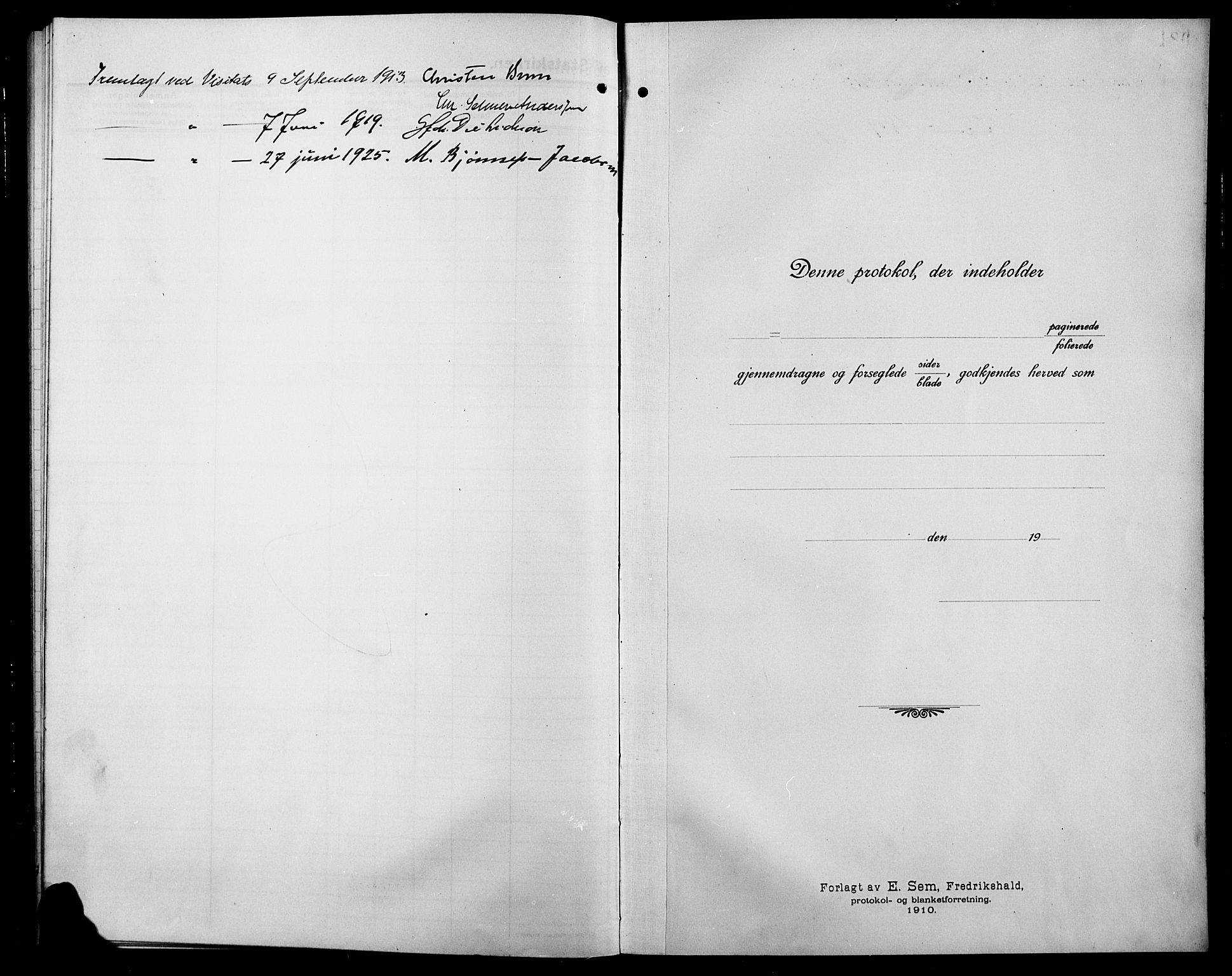 SAH, Søndre Land prestekontor, L/L0006: Klokkerbok nr. 6, 1912-1925