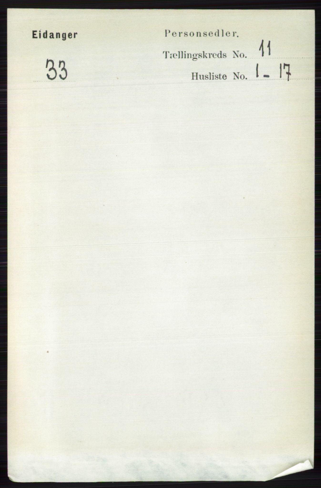 RA, Folketelling 1891 for 0813 Eidanger herred, 1891, s. 4236