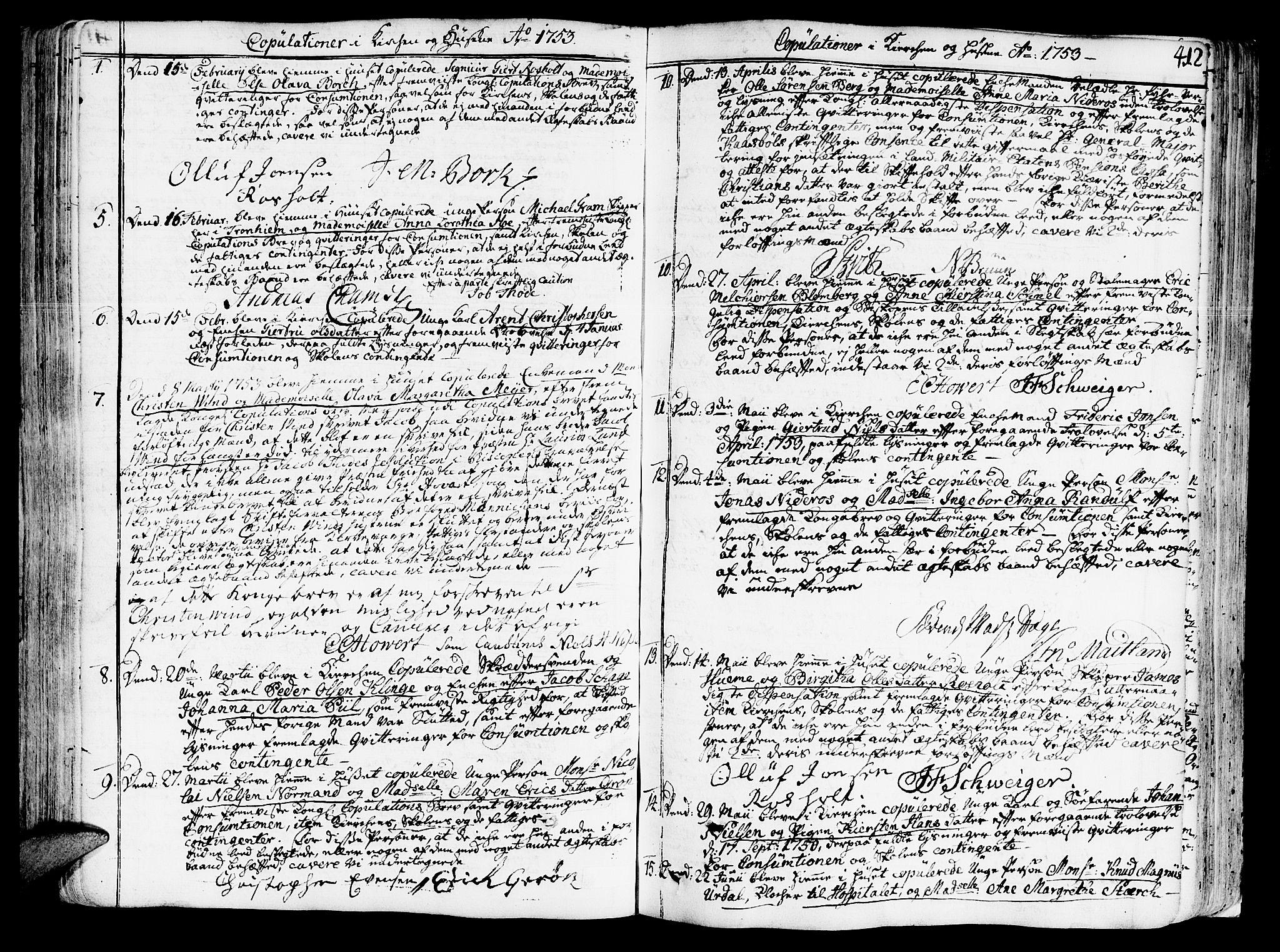 SAT, Ministerialprotokoller, klokkerbøker og fødselsregistre - Sør-Trøndelag, 602/L0103: Ministerialbok nr. 602A01, 1732-1774, s. 412