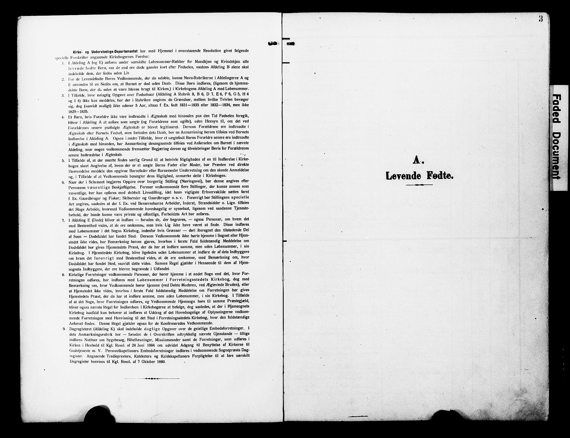 SAT, Ministerialprotokoller, klokkerbøker og fødselsregistre - Nord-Trøndelag, 723/L0258: Klokkerbok nr. 723C06, 1908-1927, s. 3