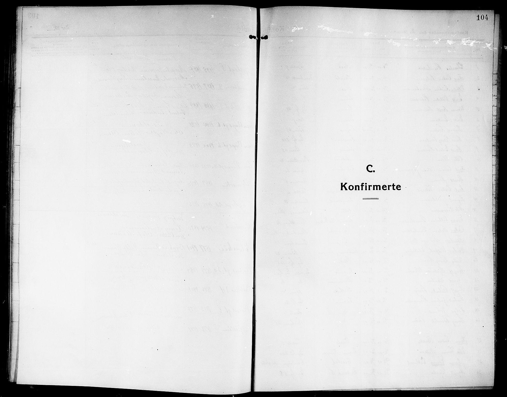 SAKO, Rjukan kirkebøker, G/Ga/L0002: Klokkerbok nr. 2, 1913-1920, s. 104