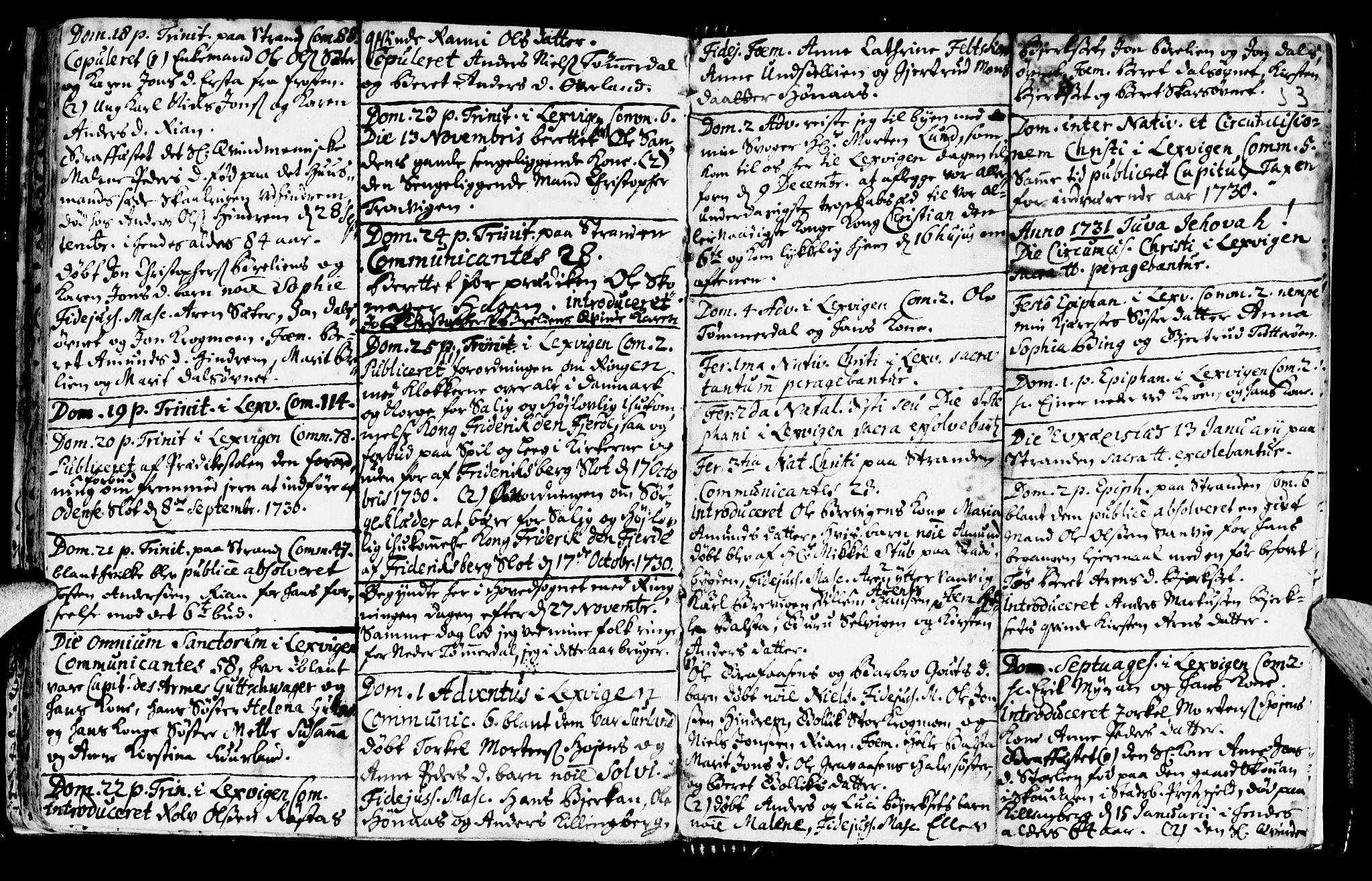 SAT, Ministerialprotokoller, klokkerbøker og fødselsregistre - Nord-Trøndelag, 701/L0001: Ministerialbok nr. 701A01, 1717-1731, s. 53