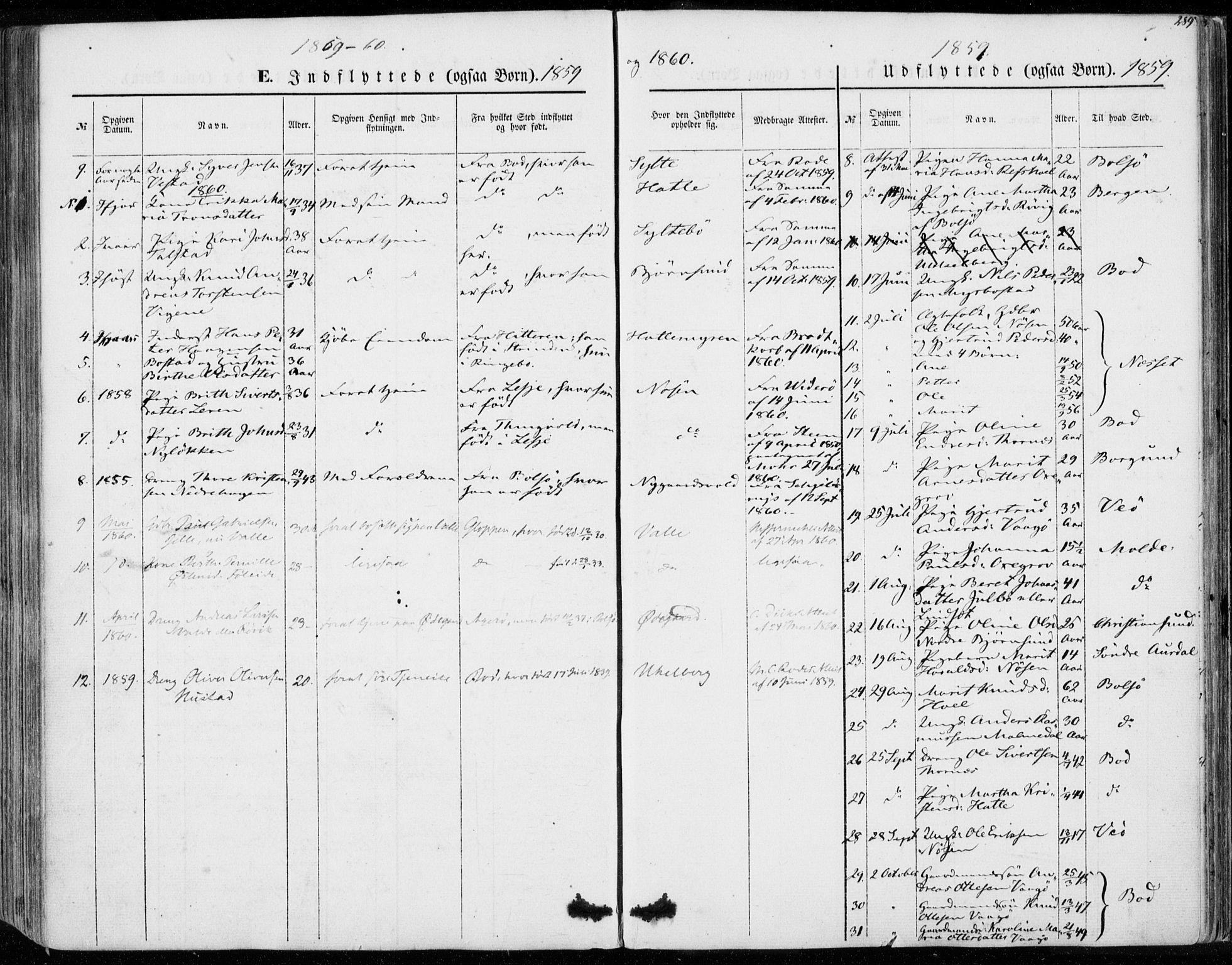 SAT, Ministerialprotokoller, klokkerbøker og fødselsregistre - Møre og Romsdal, 565/L0748: Ministerialbok nr. 565A02, 1845-1872, s. 289