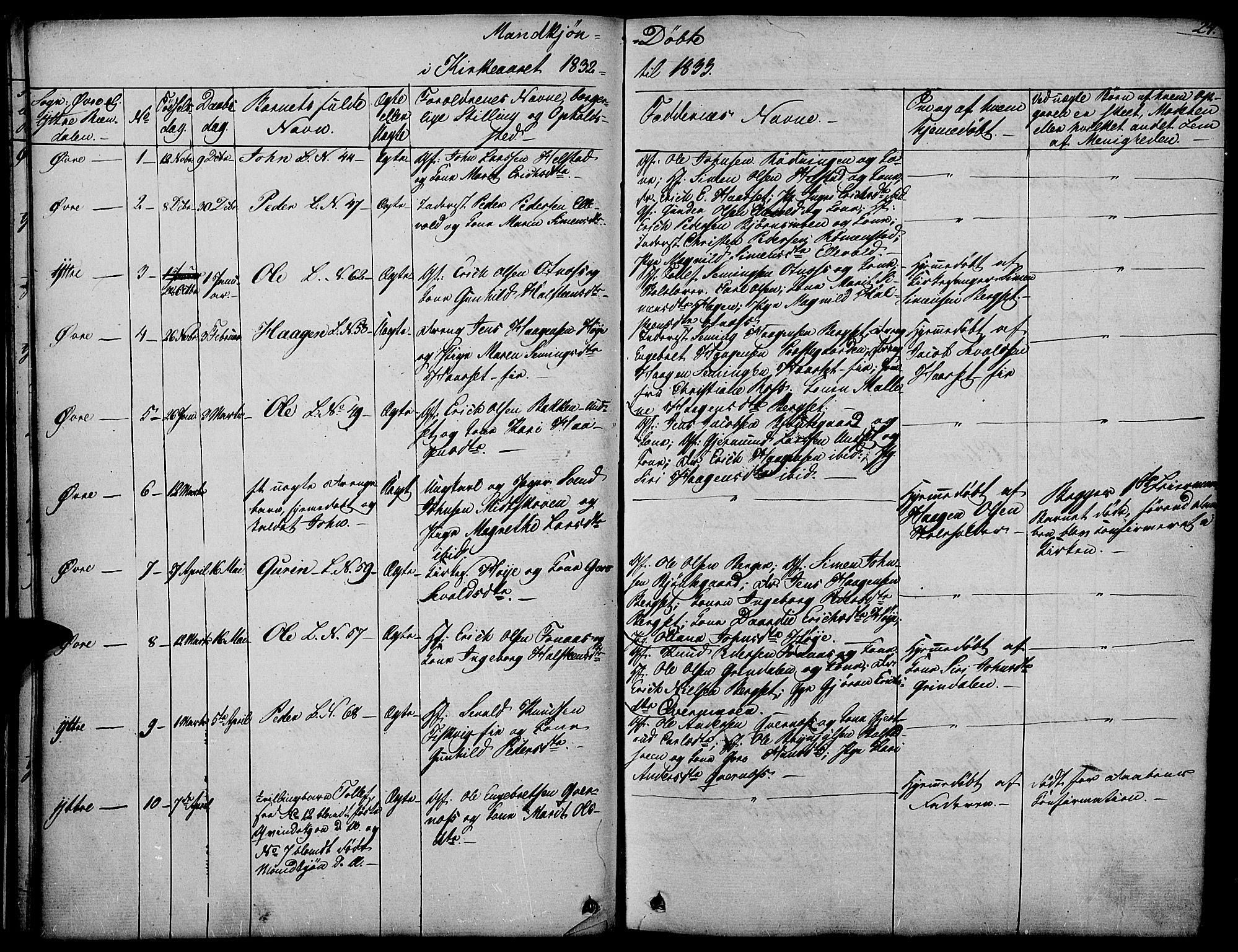 SAH, Rendalen prestekontor, H/Ha/Haa/L0004: Ministerialbok nr. 4, 1829-1852, s. 24