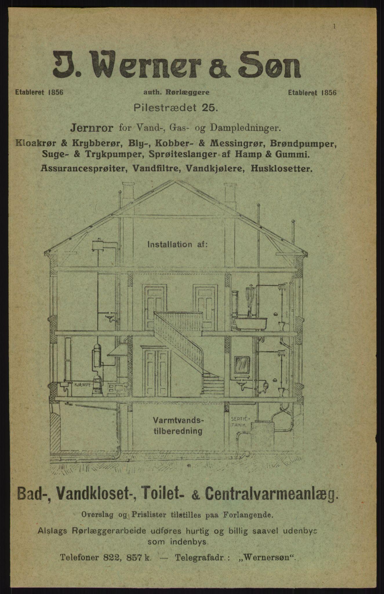 RA, Kristiania adressebok (publikasjon)*, 1914, s. 1