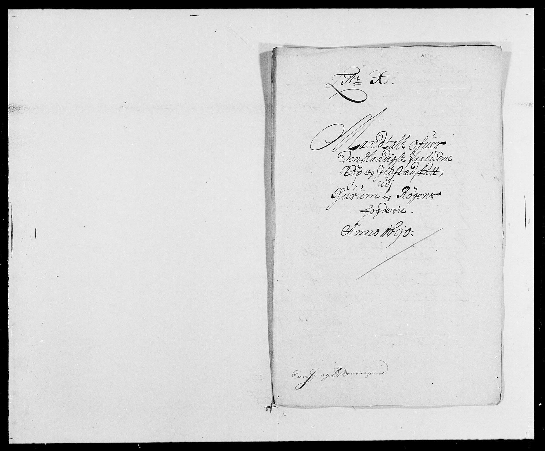RA, Rentekammeret inntil 1814, Reviderte regnskaper, Fogderegnskap, R29/L1693: Fogderegnskap Hurum og Røyken, 1688-1693, s. 179