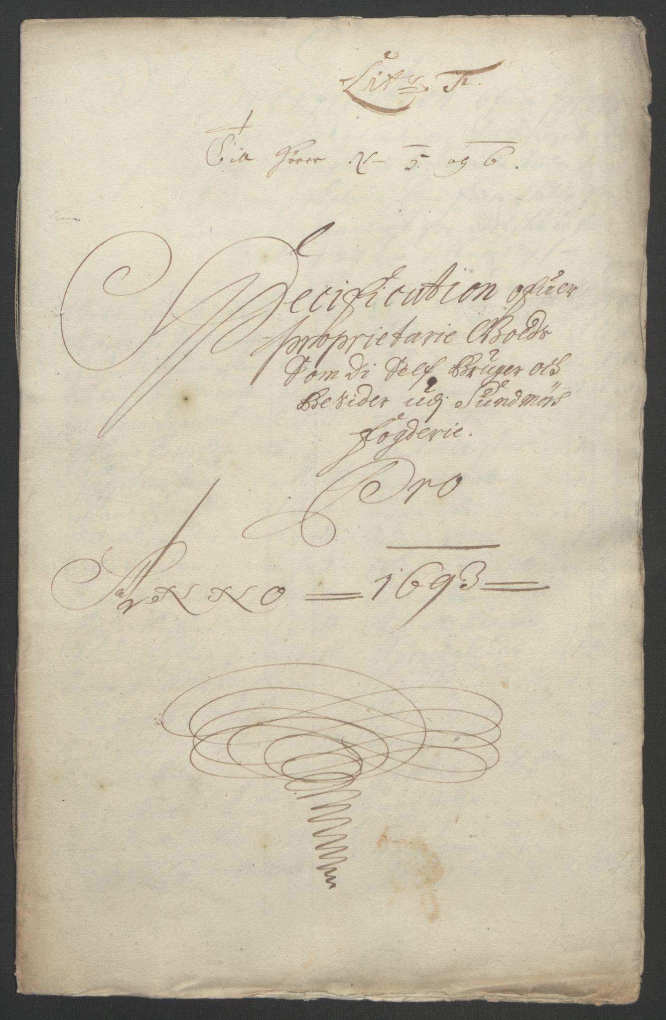 RA, Rentekammeret inntil 1814, Reviderte regnskaper, Fogderegnskap, R54/L3554: Fogderegnskap Sunnmøre, 1691-1693, s. 476