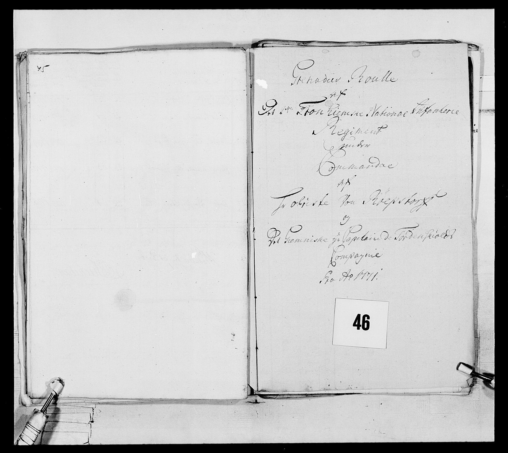 RA, Generalitets- og kommissariatskollegiet, Det kongelige norske kommissariatskollegium, E/Eh/L0076: 2. Trondheimske nasjonale infanteriregiment, 1766-1773, s. 149