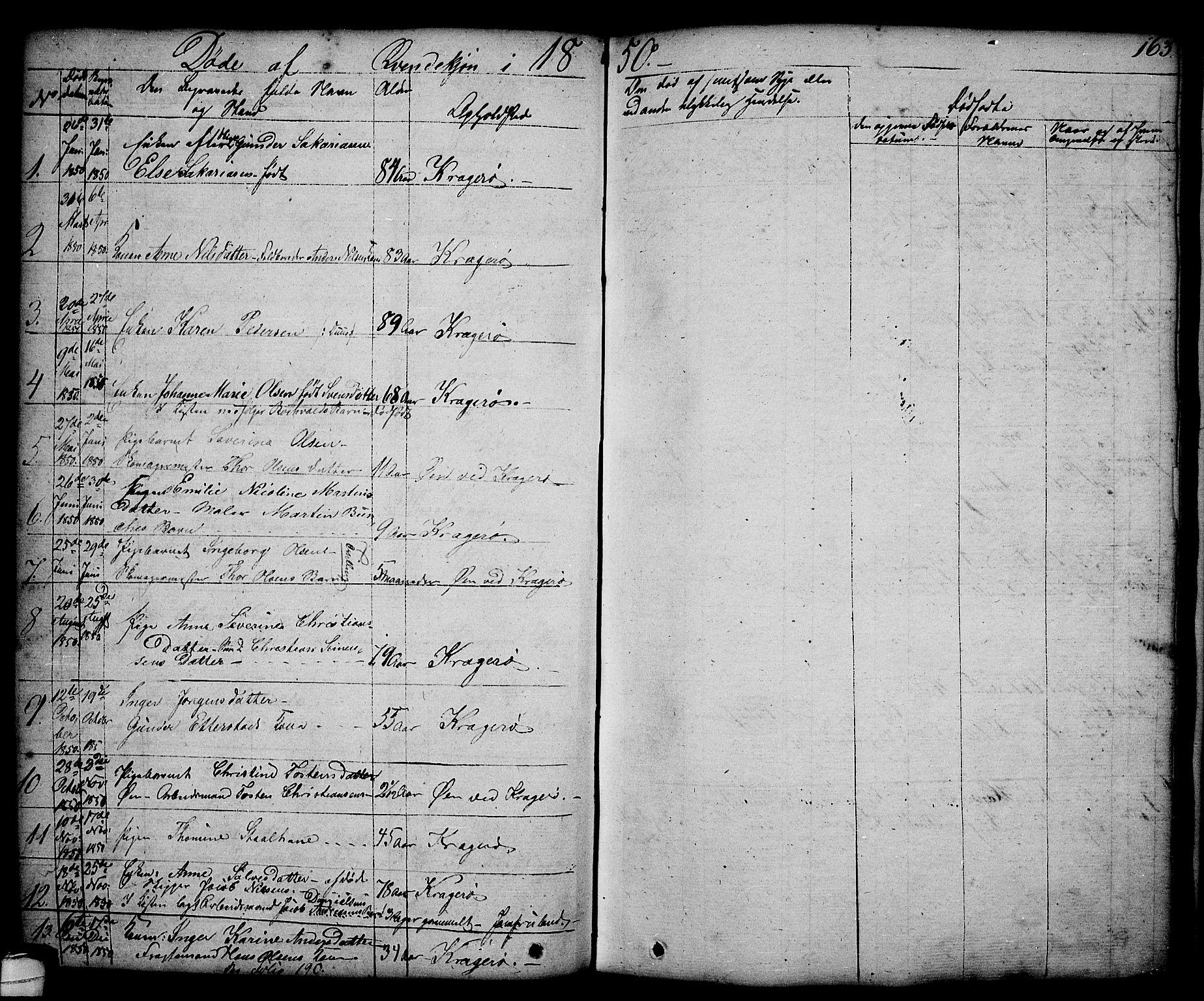 SAKO, Kragerø kirkebøker, G/Ga/L0003: Klokkerbok nr. 3, 1832-1852, s. 163