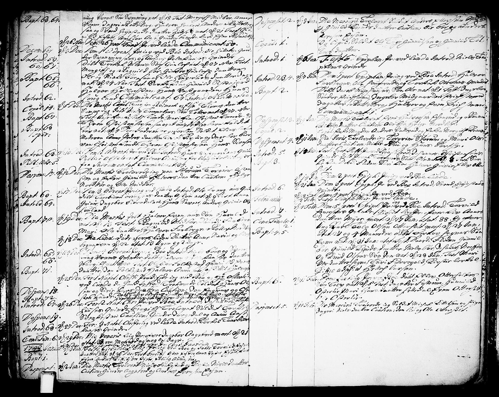 SAKO, Bø kirkebøker, F/Fa/L0003: Ministerialbok nr. 3, 1733-1748, s. 39