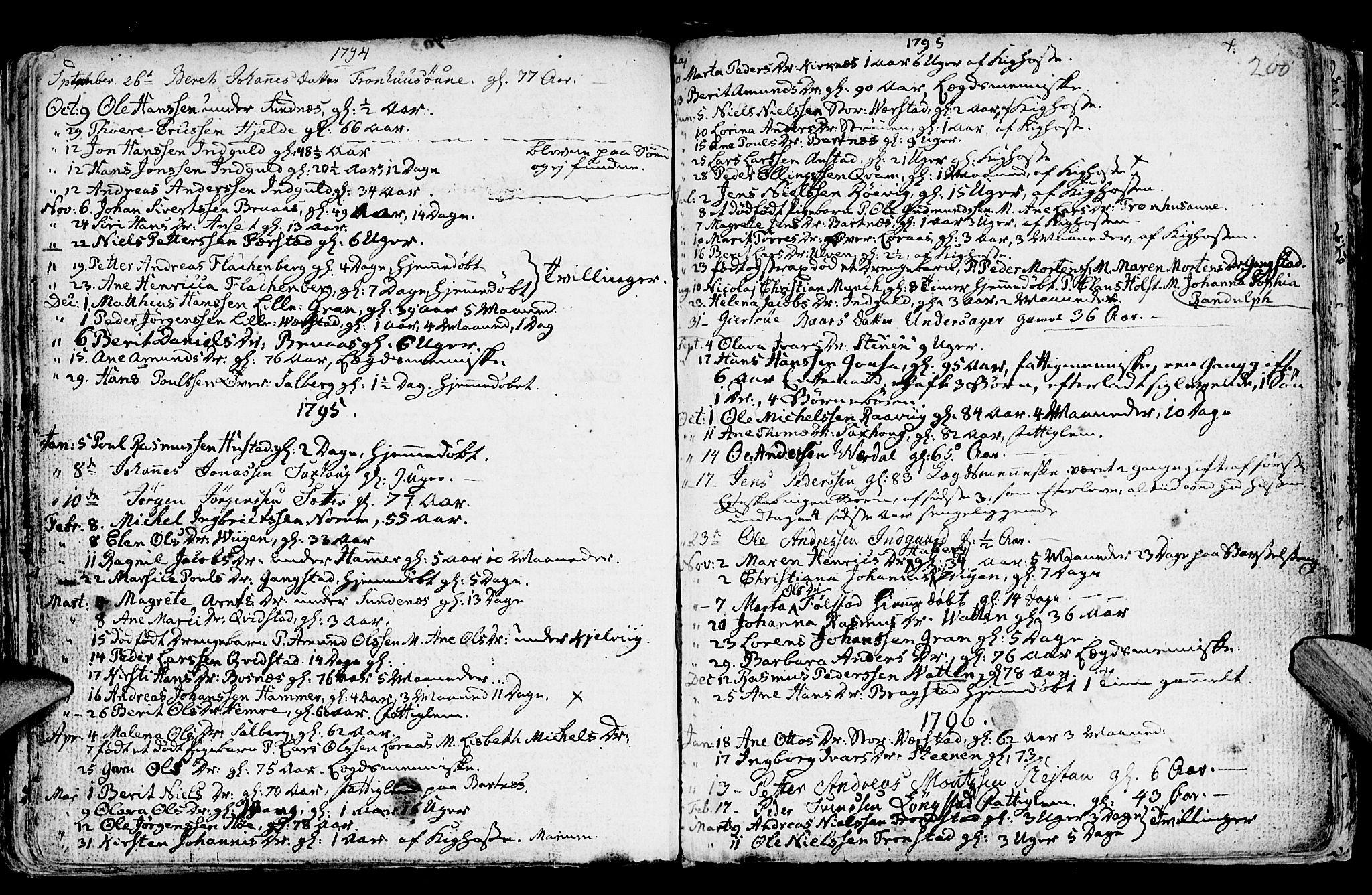 SAT, Ministerialprotokoller, klokkerbøker og fødselsregistre - Nord-Trøndelag, 730/L0273: Ministerialbok nr. 730A02, 1762-1802, s. 200