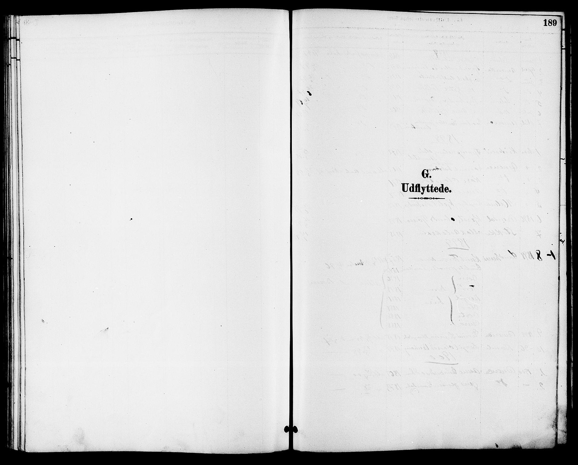 SAKO, Seljord kirkebøker, G/Ga/L0005: Klokkerbok nr. I 5, 1887-1914, s. 189
