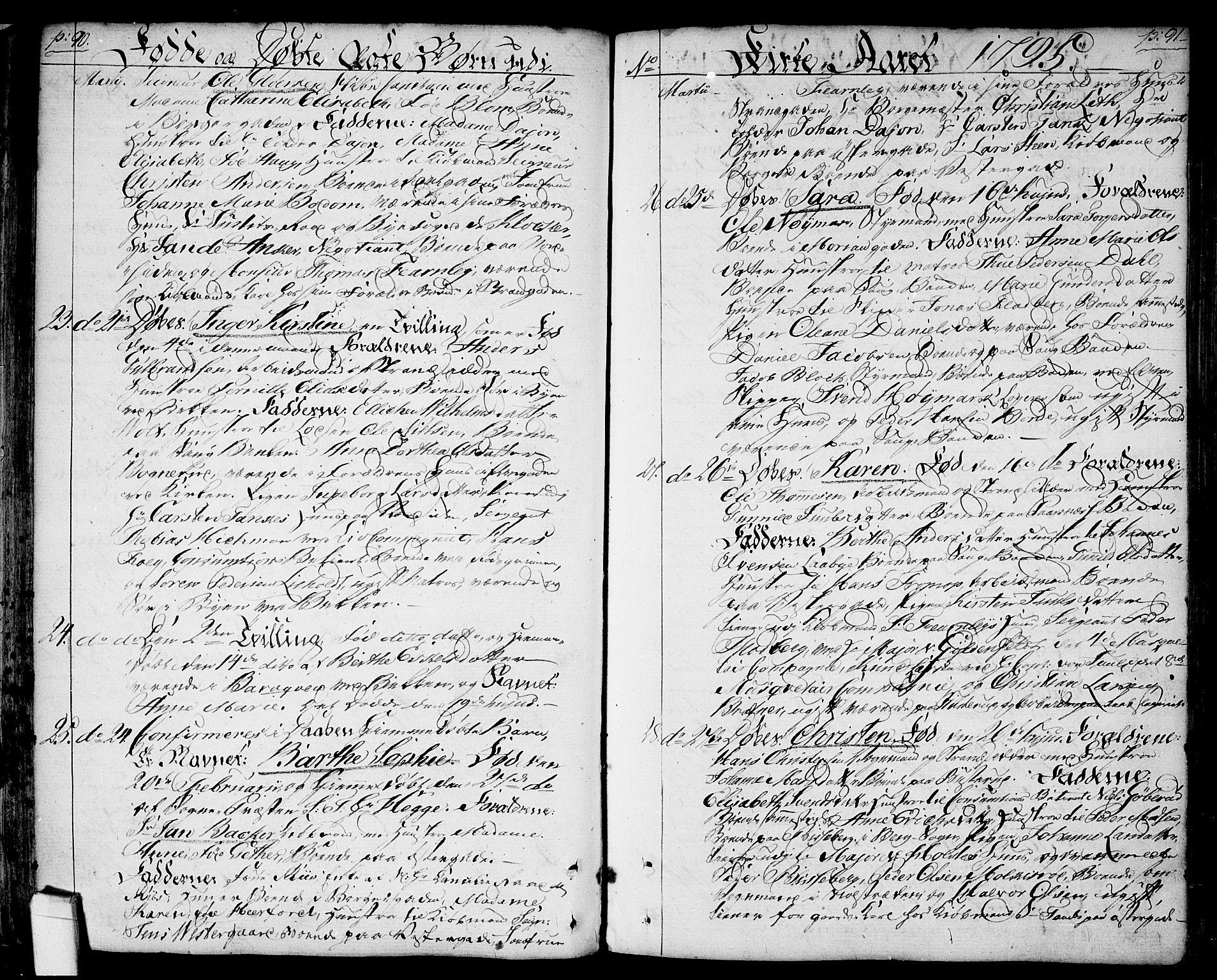 SAO, Halden prestekontor Kirkebøker, F/Fa/L0002: Ministerialbok nr. I 2, 1792-1812, s. 90-91