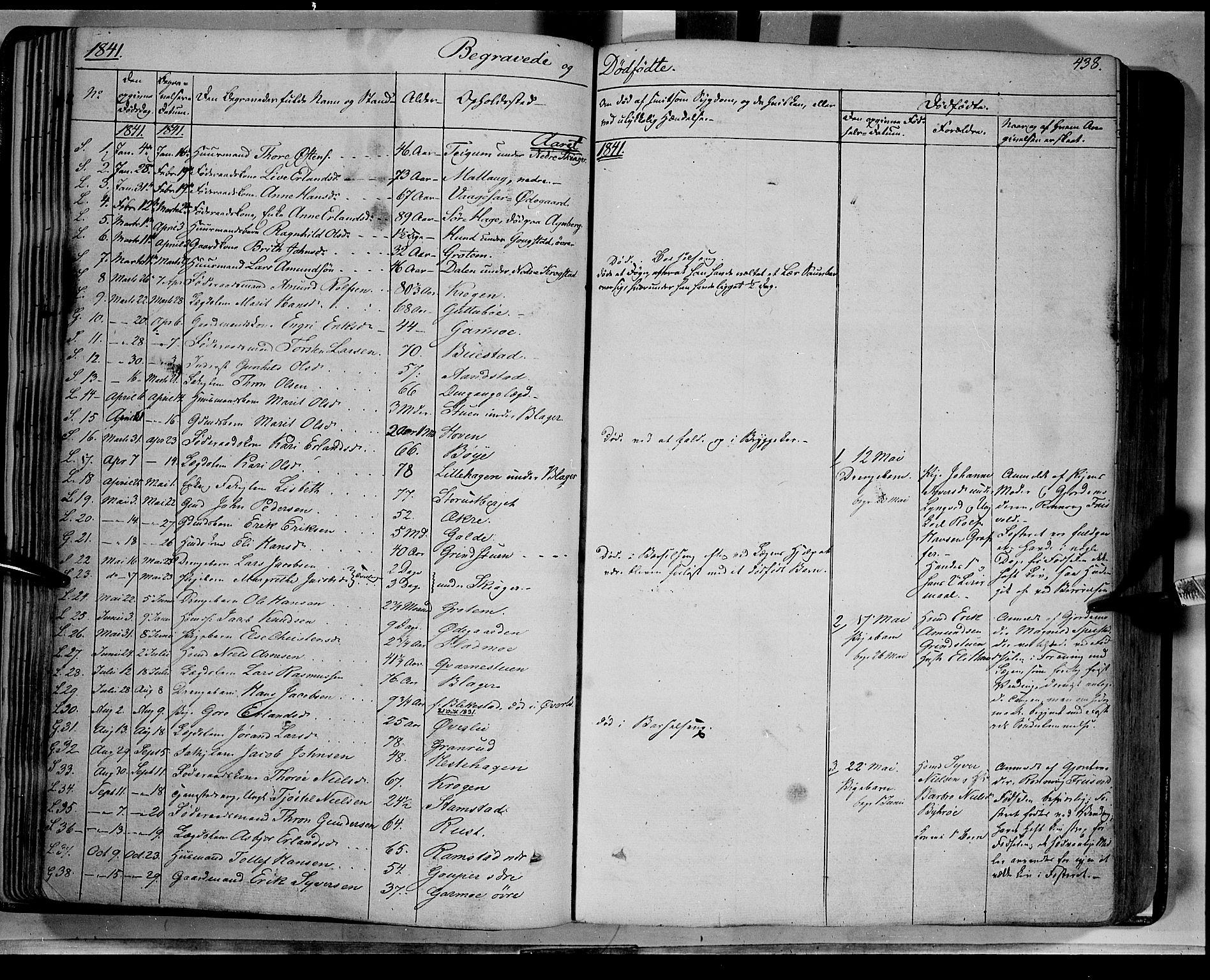SAH, Lom prestekontor, K/L0006: Ministerialbok nr. 6B, 1837-1863, s. 438