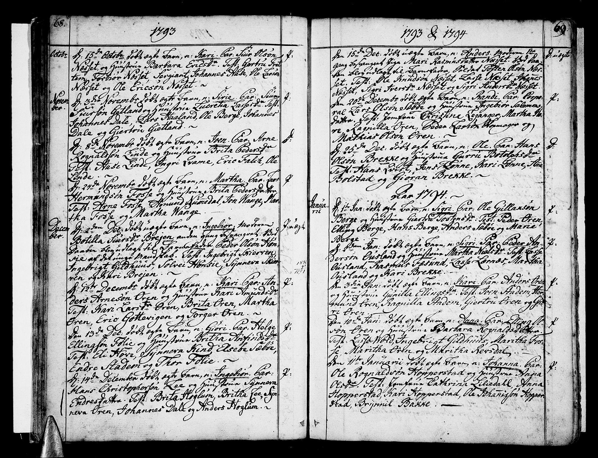 SAB, Vik Sokneprestembete, Ministerialbok nr. A 5, 1787-1820, s. 68-69