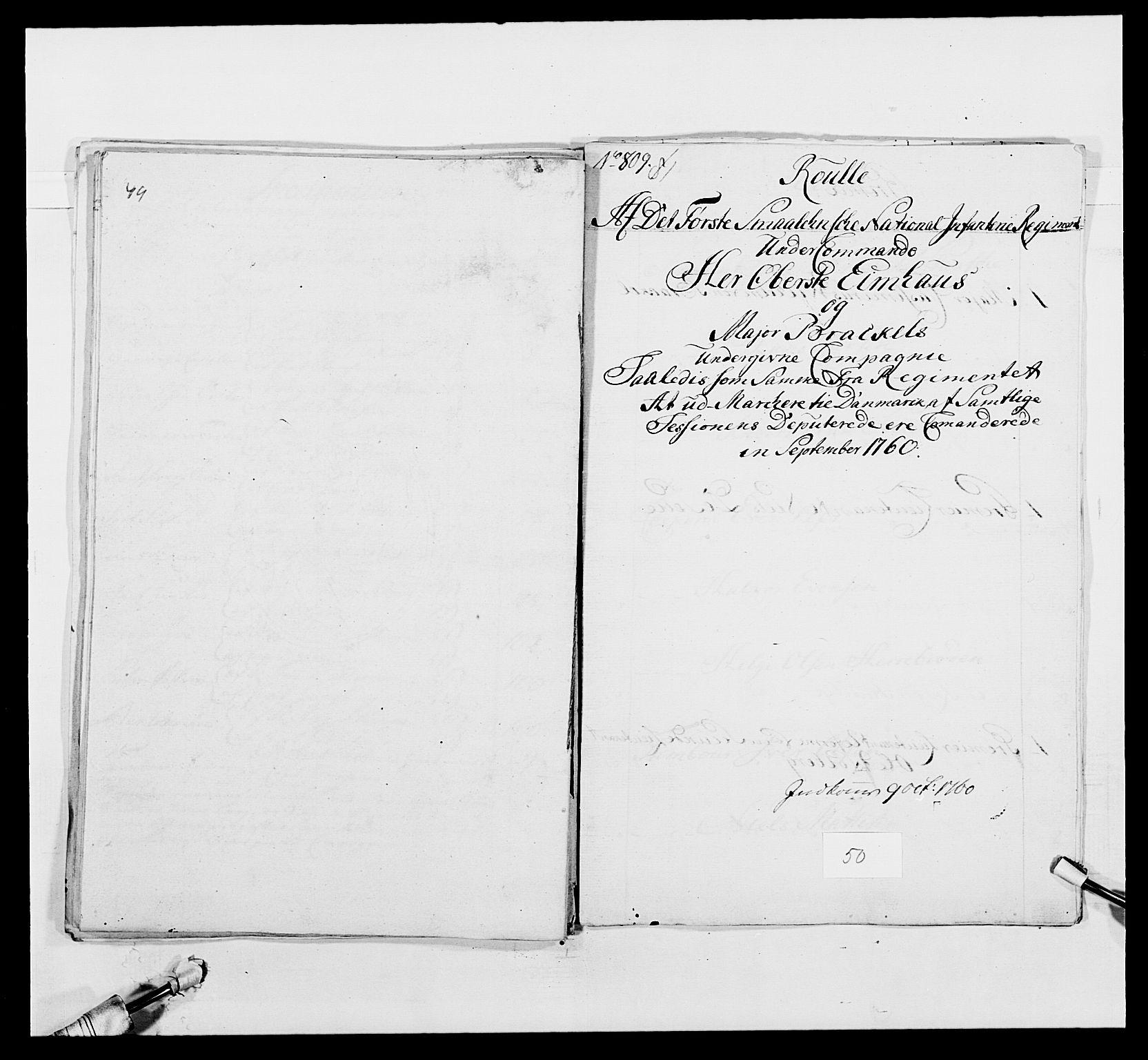 RA, Kommanderende general (KG I) med Det norske krigsdirektorium, E/Ea/L0495: 1. Smålenske regiment, 1732-1763, s. 663
