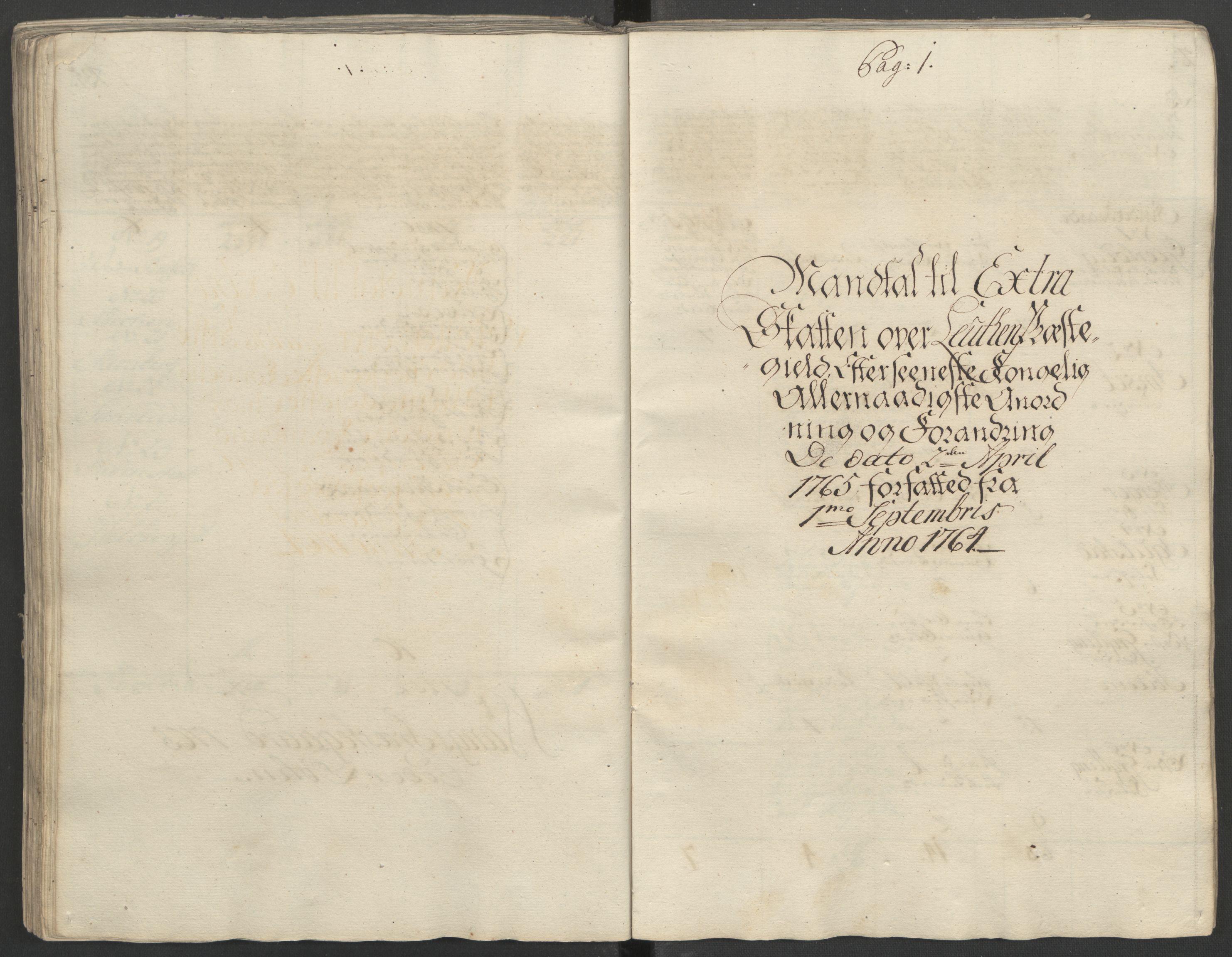 RA, Rentekammeret inntil 1814, Reviderte regnskaper, Fogderegnskap, R16/L1148: Ekstraskatten Hedmark, 1764, s. 185
