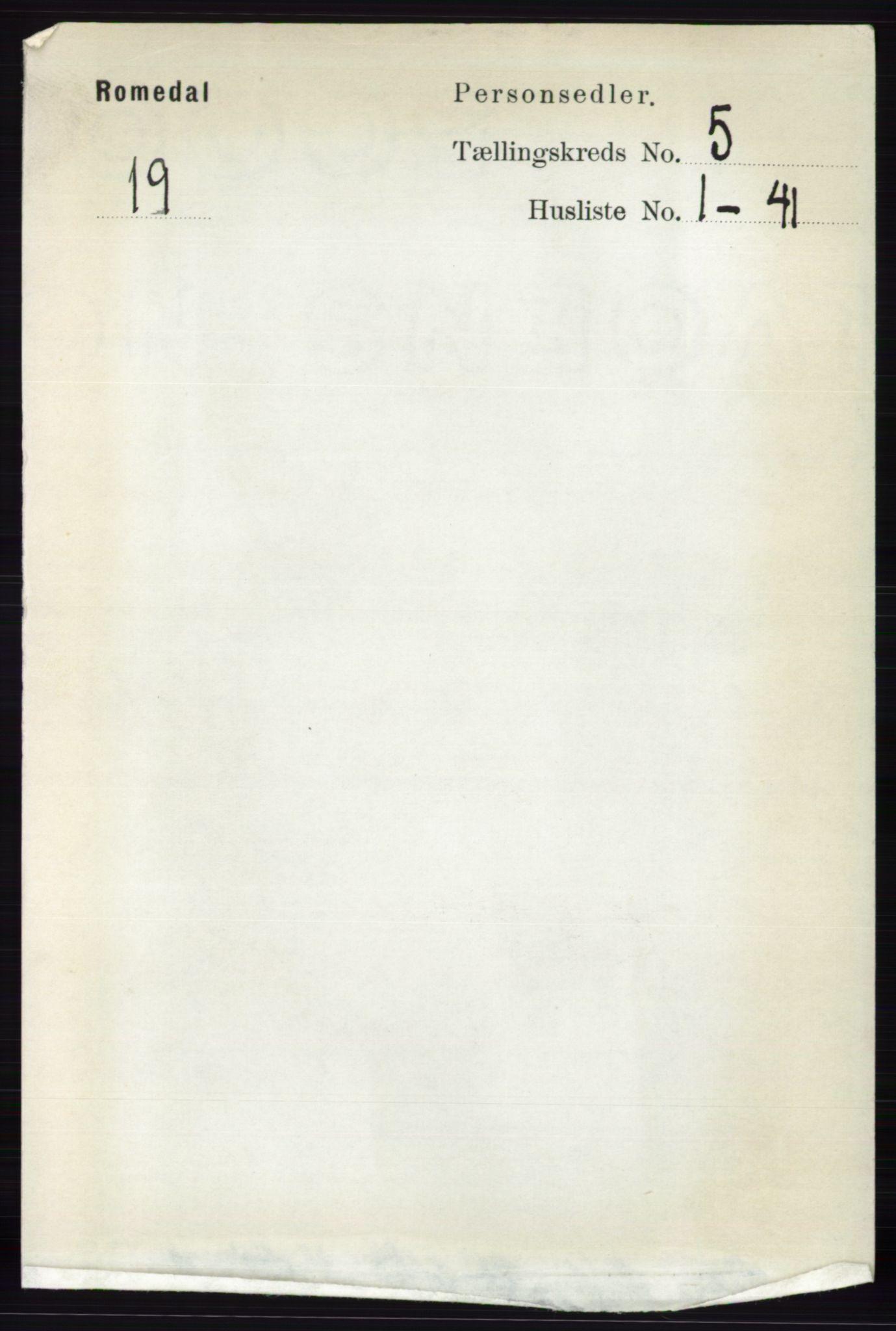 RA, Folketelling 1891 for 0416 Romedal herred, 1891, s. 2464