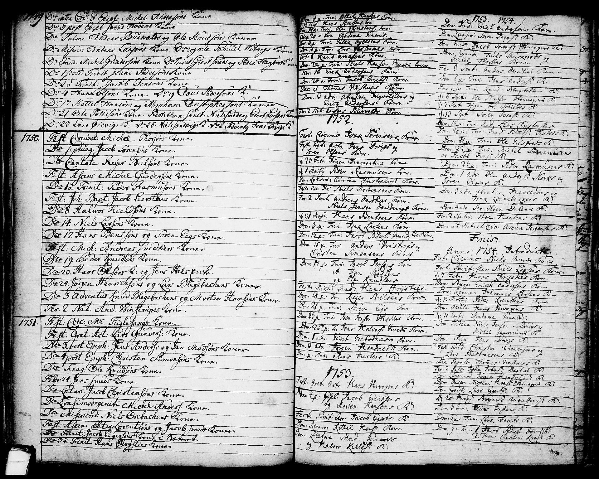 SAKO, Brevik kirkebøker, F/Fa/L0002: Ministerialbok nr. 2, 1720-1764, s. 47b