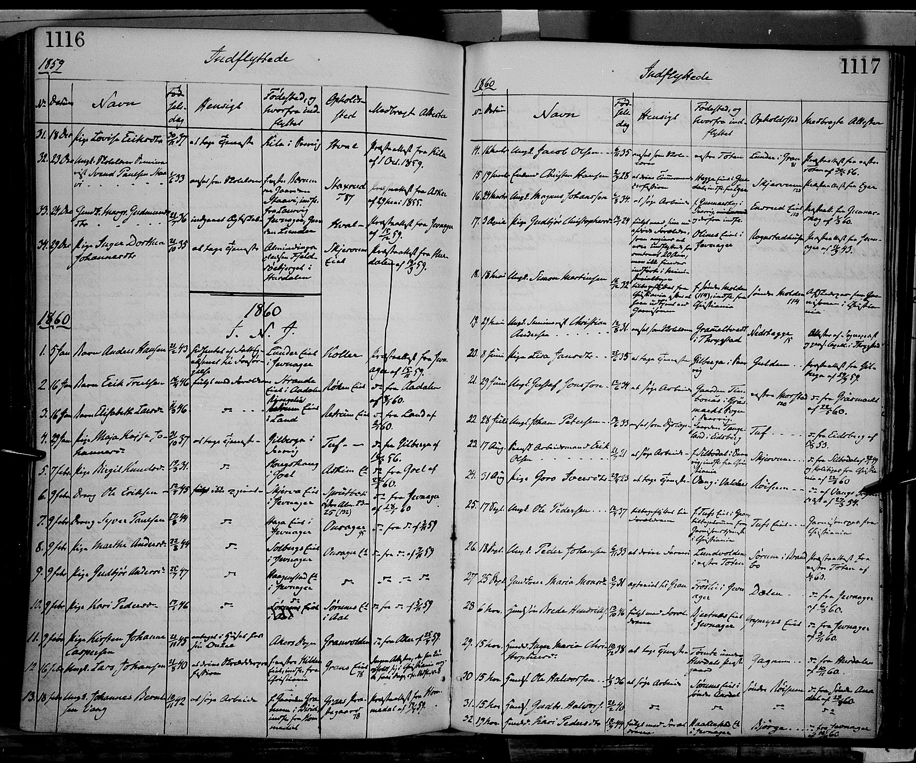 SAH, Gran prestekontor, Ministerialbok nr. 12, 1856-1874, s. 1116-1117