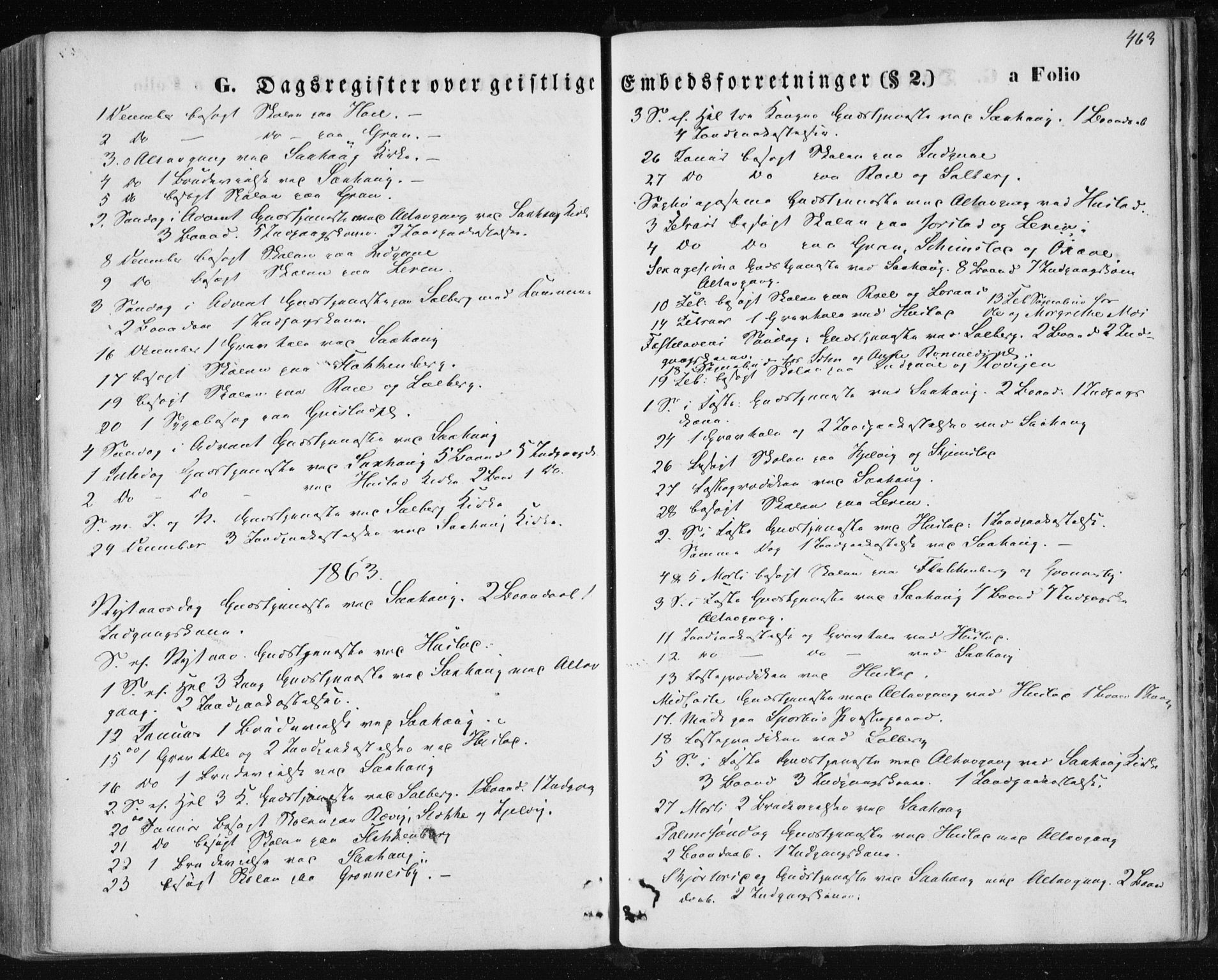 SAT, Ministerialprotokoller, klokkerbøker og fødselsregistre - Nord-Trøndelag, 730/L0283: Ministerialbok nr. 730A08, 1855-1865, s. 463