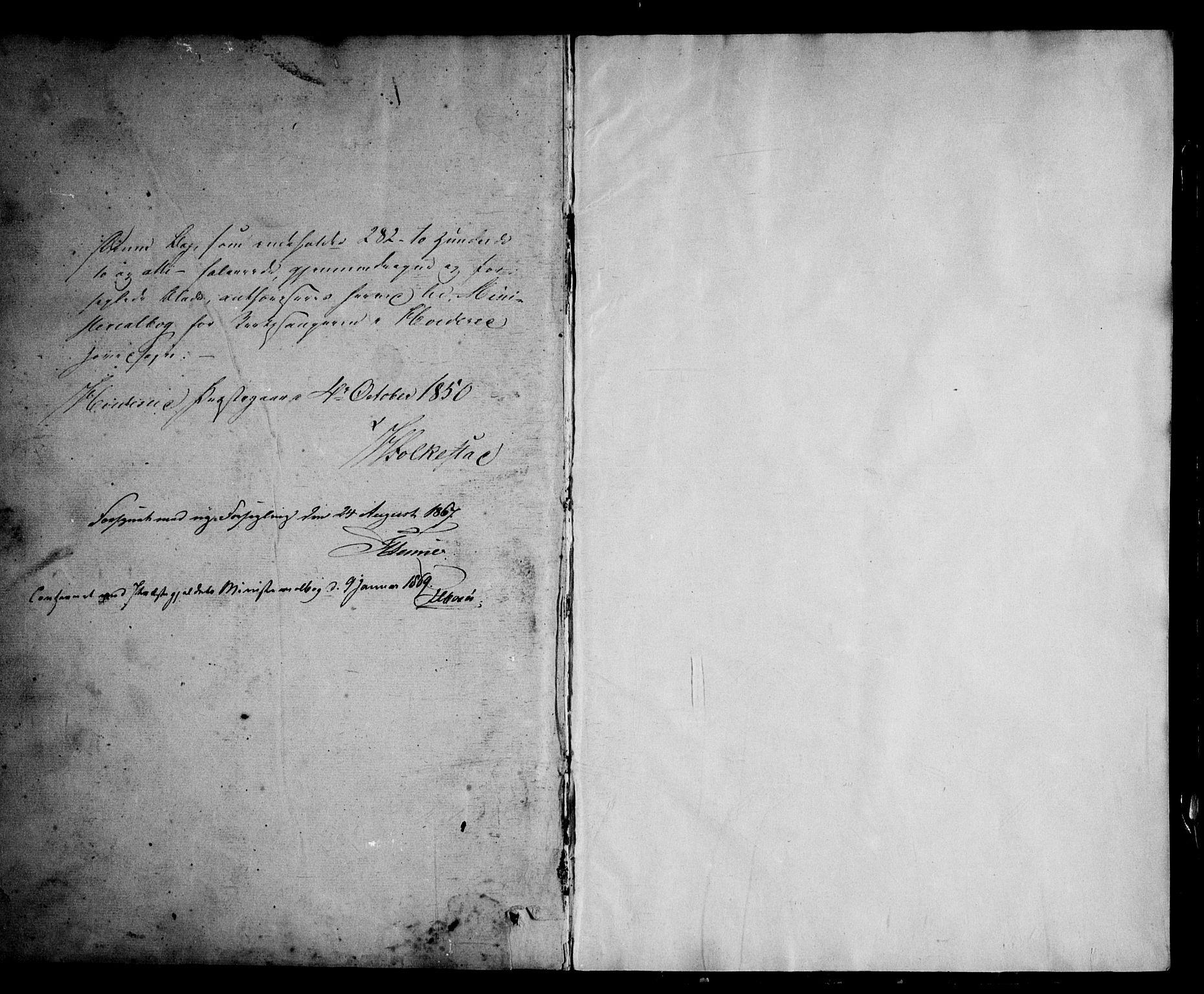 SAKO, Kviteseid kirkebøker, G/Ga/L0001: Klokkerbok nr. I 1, 1850-1893