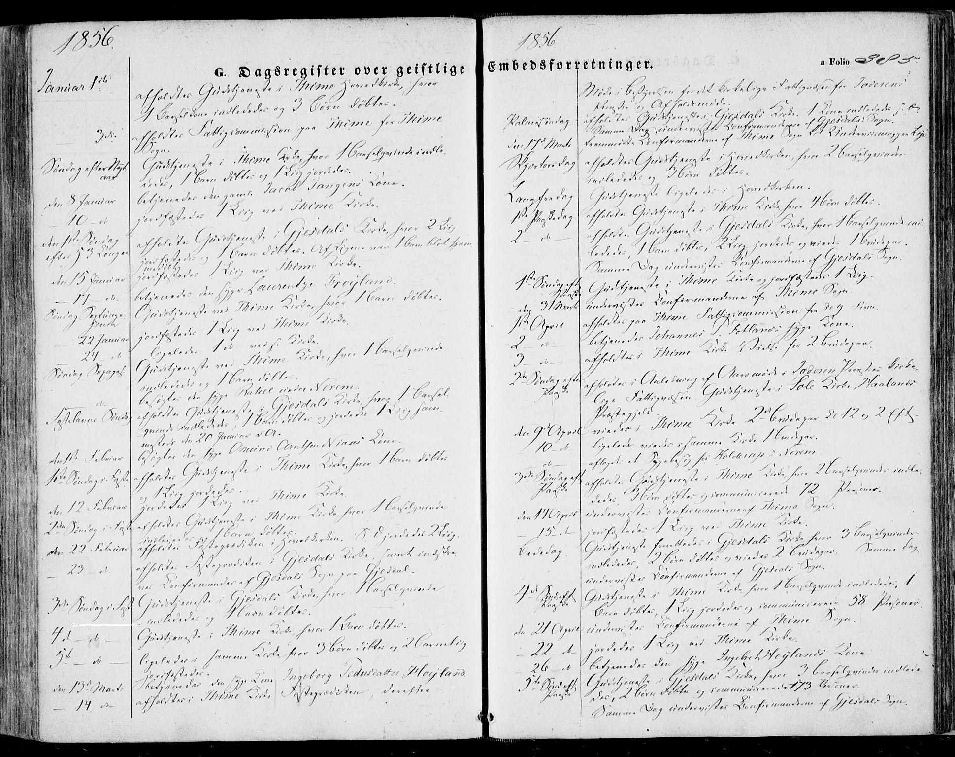 SAST, Lye sokneprestkontor, 30BA/L0007: Ministerialbok nr. A 6, 1856-1871, s. 385