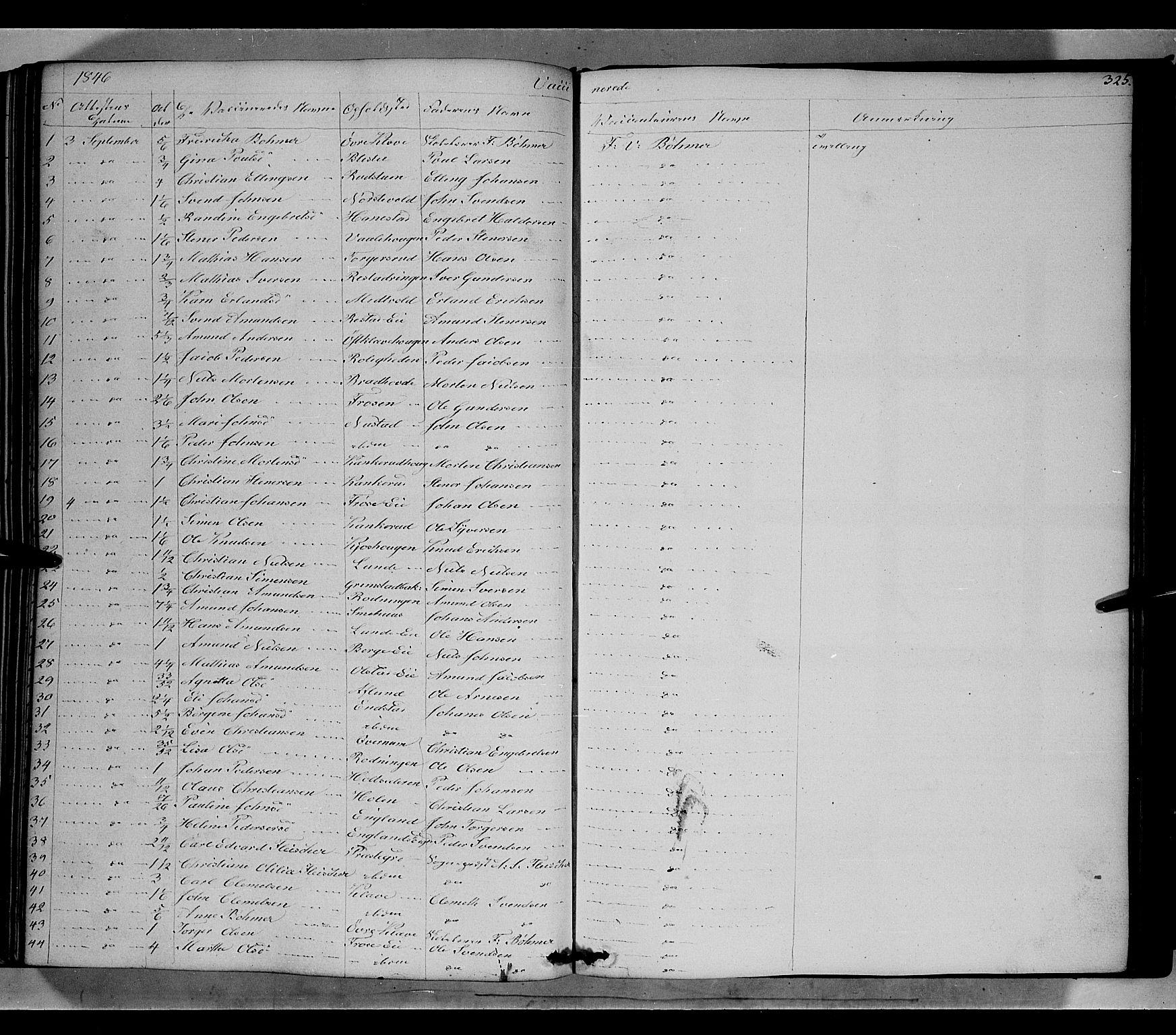 SAH, Gausdal prestekontor, Ministerialbok nr. 7, 1840-1850, s. 325