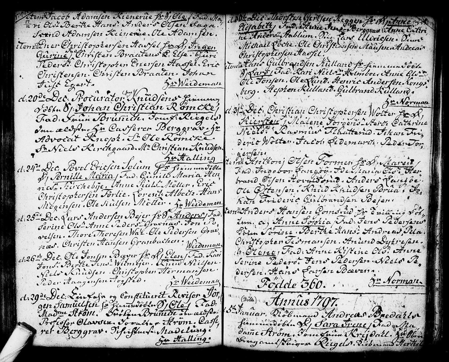 SAKO, Kongsberg kirkebøker, F/Fa/L0006: Ministerialbok nr. I 6, 1783-1797, s. 224