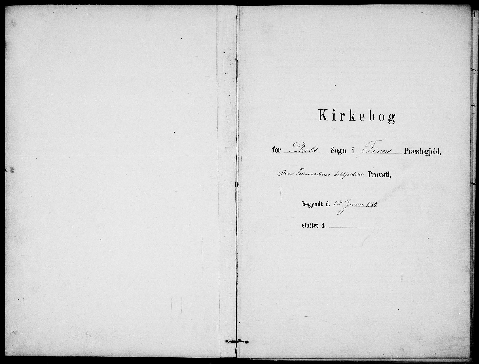 SAKO, Rjukan kirkebøker, G/Ga/L0001: Klokkerbok nr. 1, 1880-1914