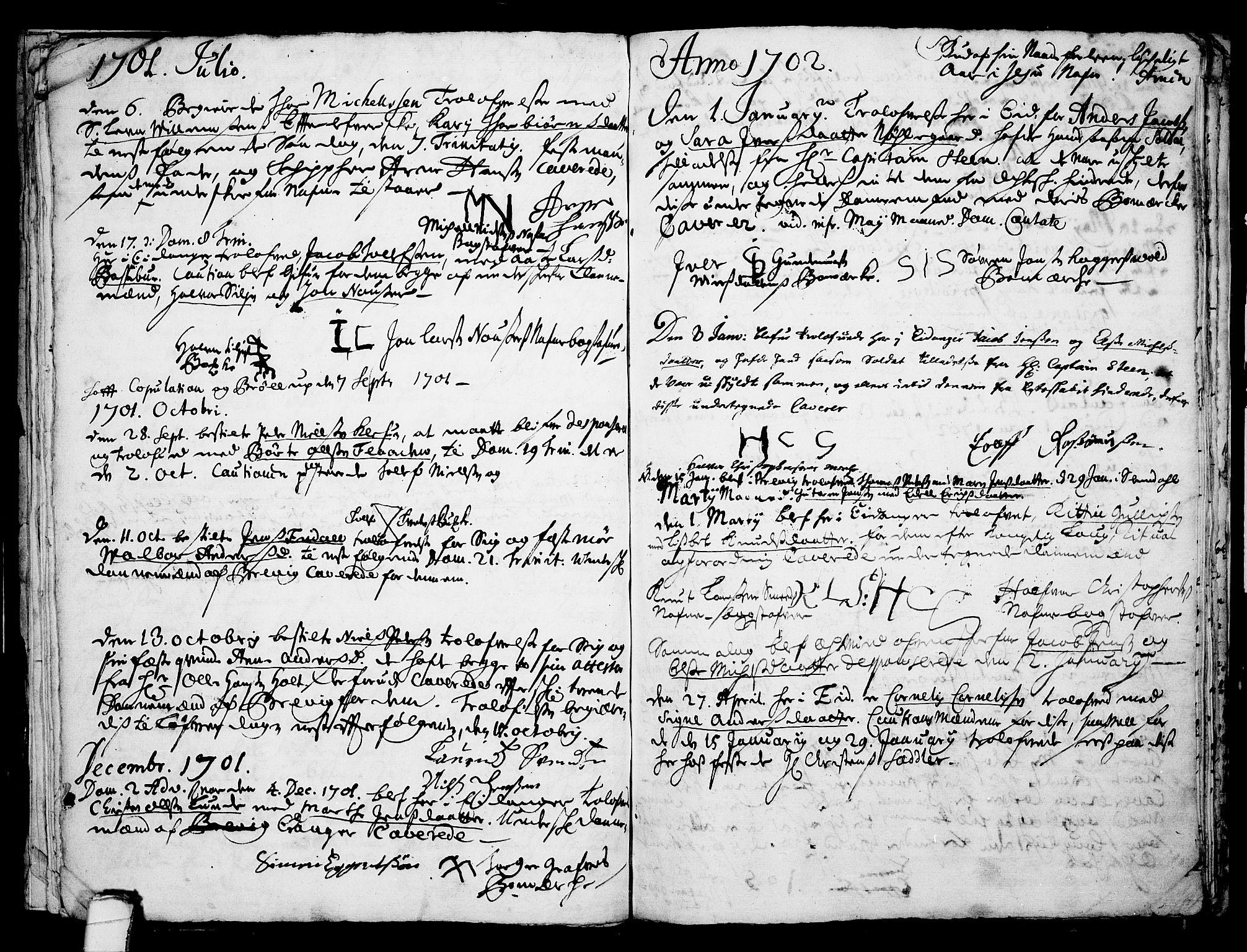 SAKO, Eidanger kirkebøker, F/Fa/L0001: Ministerialbok nr. 1, 1695-1717, s. 18