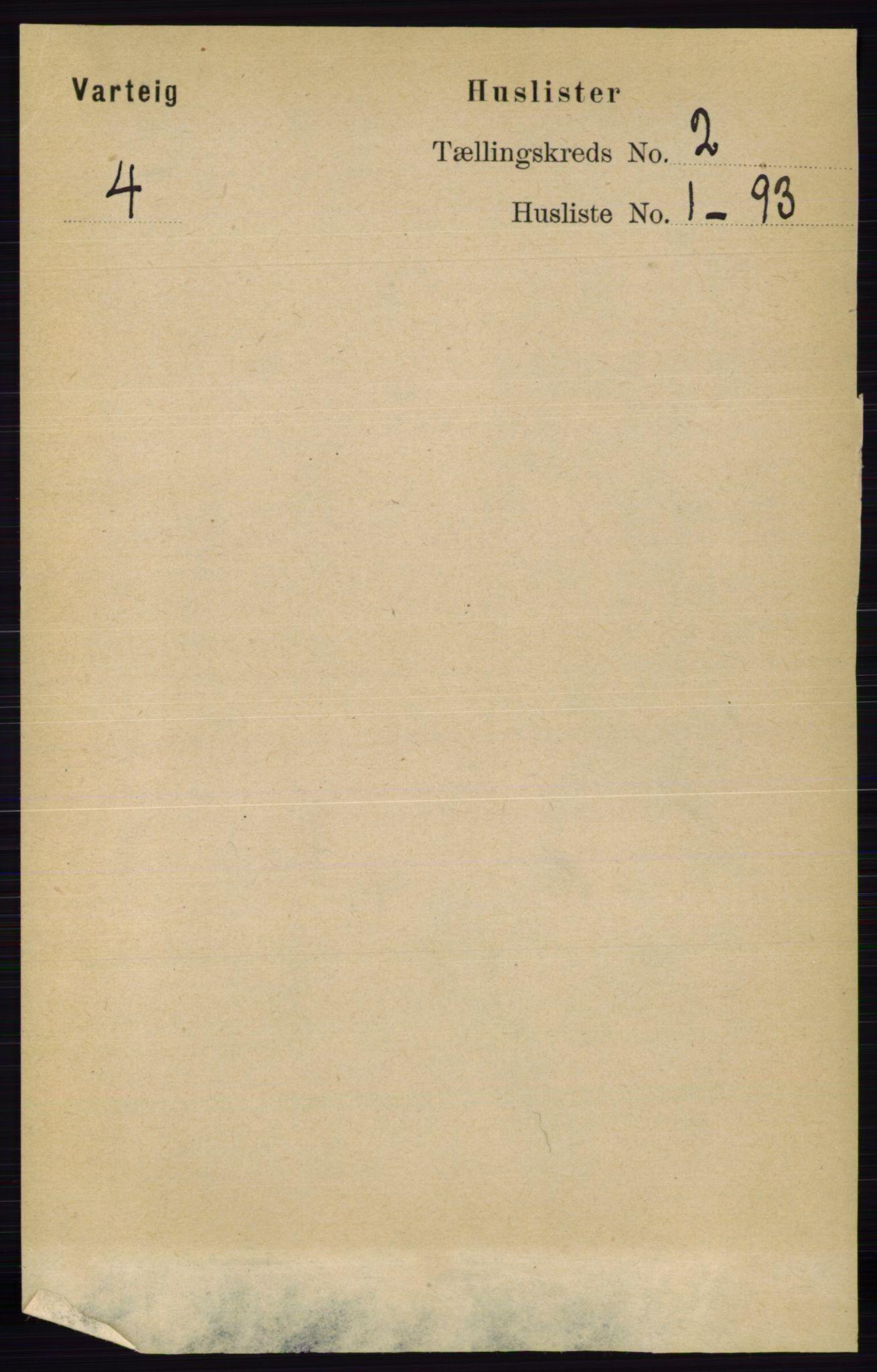 RA, Folketelling 1891 for 0114 Varteig herred, 1891, s. 483