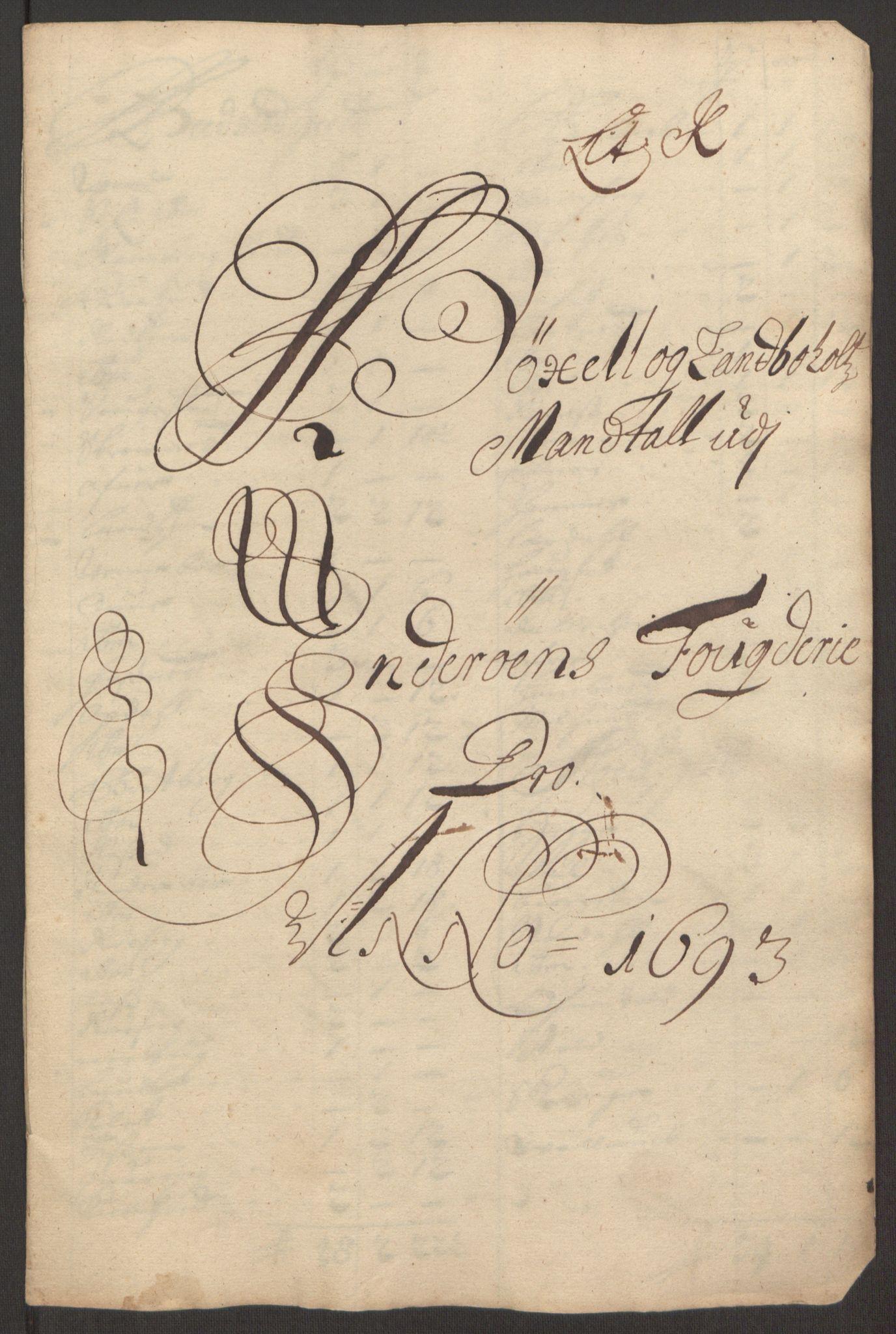 RA, Rentekammeret inntil 1814, Reviderte regnskaper, Fogderegnskap, R63/L4308: Fogderegnskap Inderøy, 1692-1694, s. 499