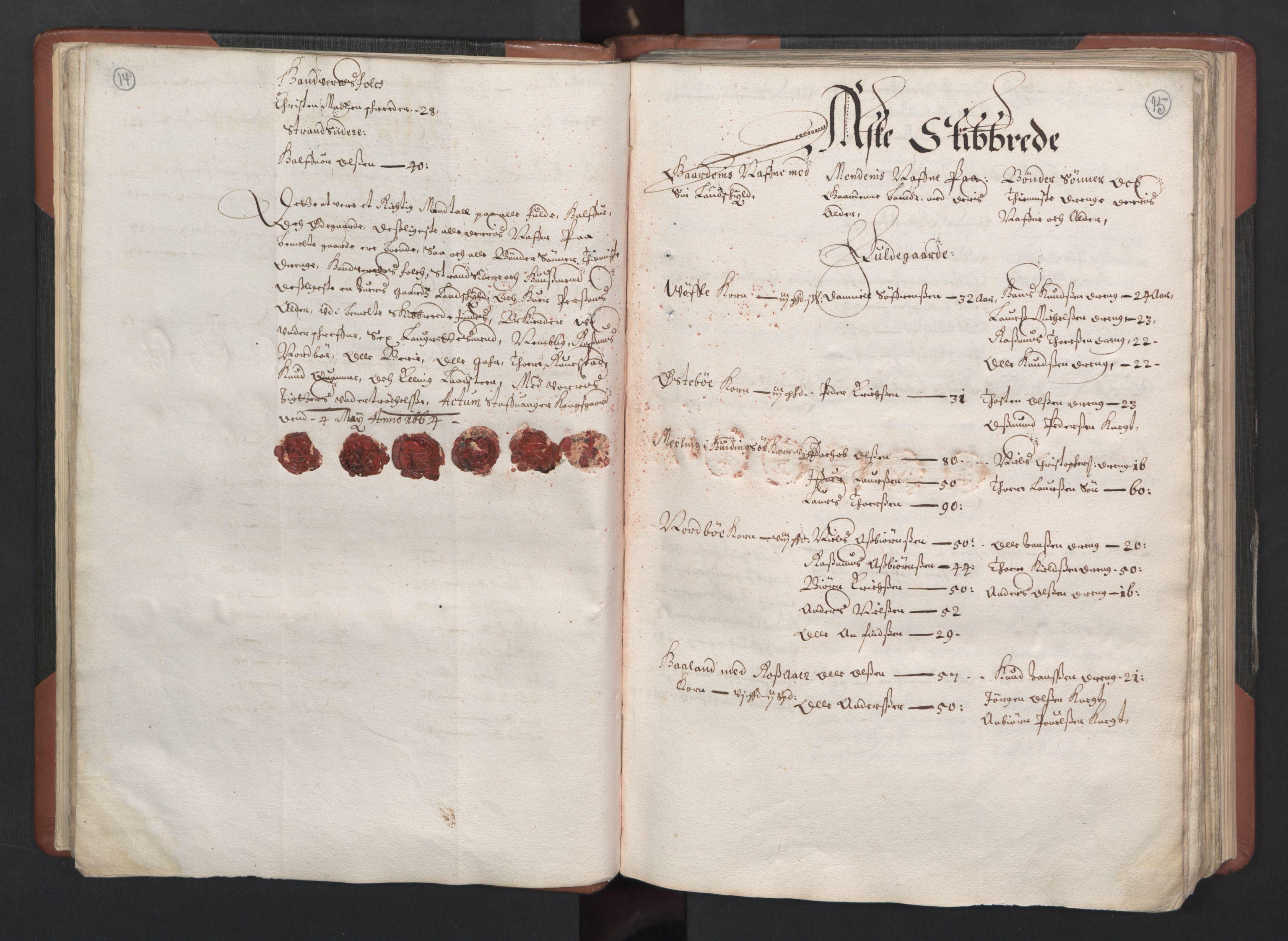 RA, Fogdenes og sorenskrivernes manntall 1664-1666, nr. 12: Ryfylke fogderi, 1664, s. 14-15