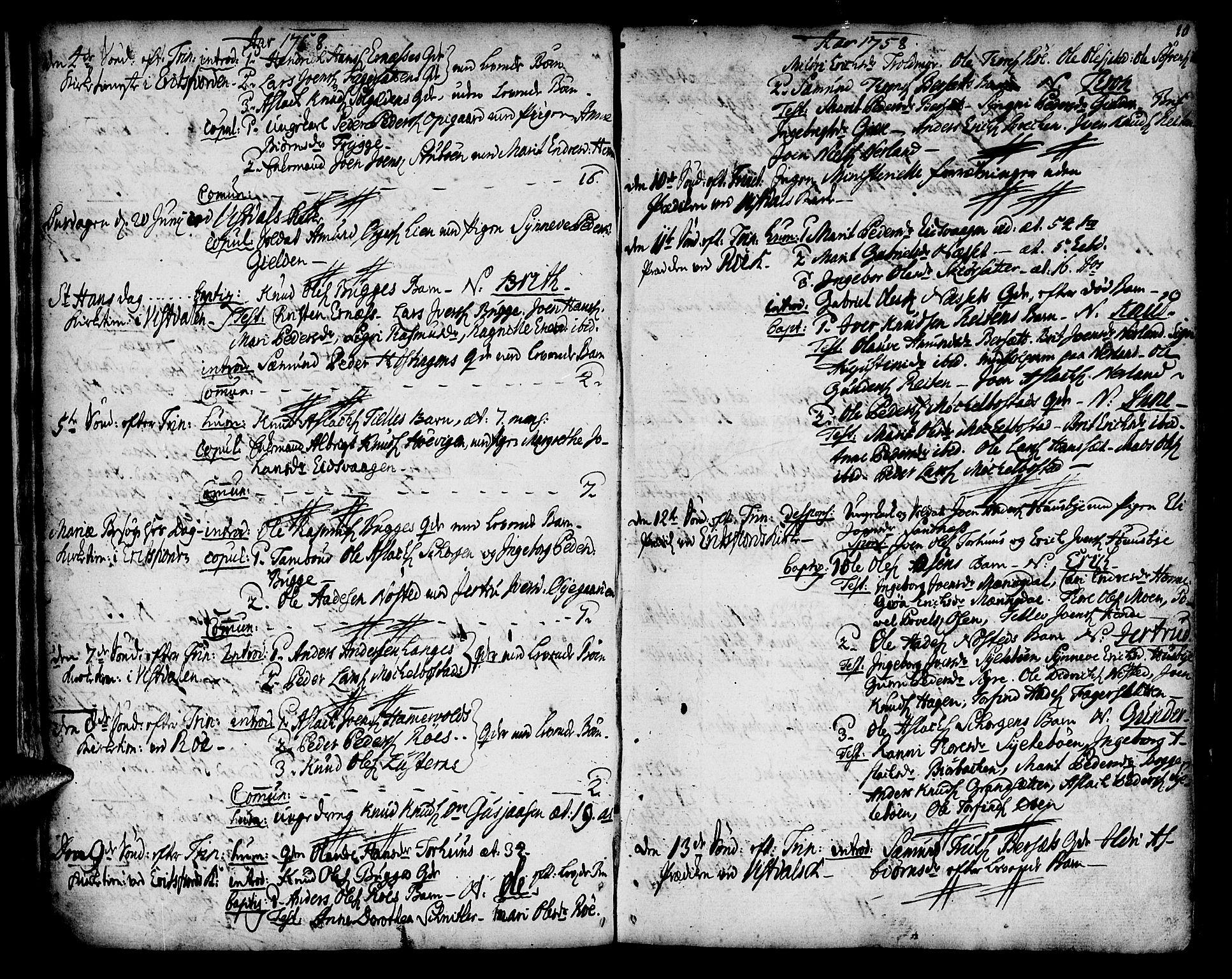 SAT, Ministerialprotokoller, klokkerbøker og fødselsregistre - Møre og Romsdal, 551/L0621: Ministerialbok nr. 551A01, 1757-1803, s. 10