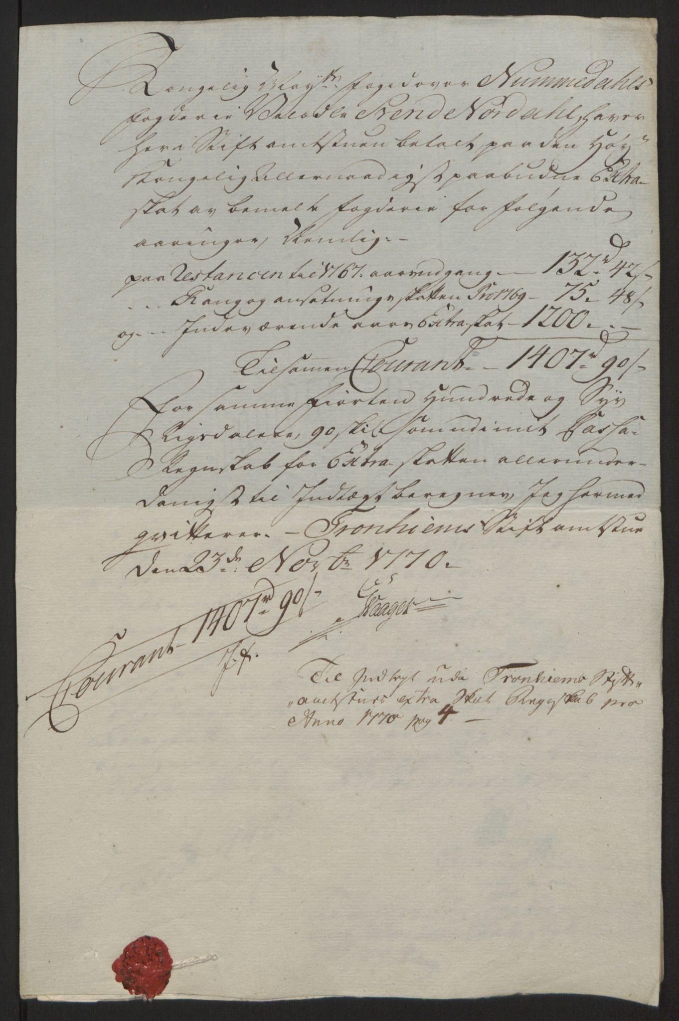 RA, Rentekammeret inntil 1814, Reviderte regnskaper, Fogderegnskap, R64/L4502: Ekstraskatten Namdal, 1762-1772, s. 377