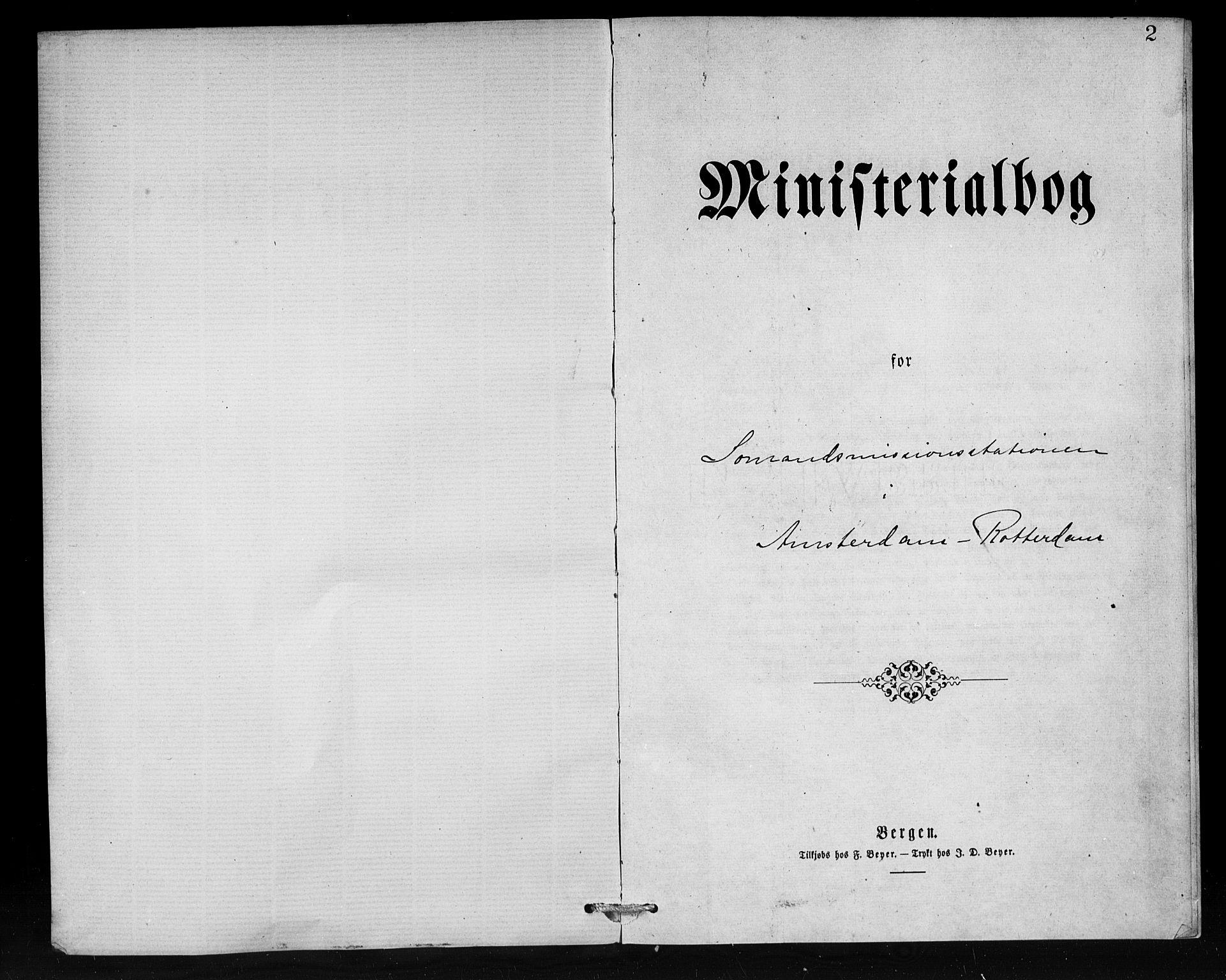 SAB, Den Norske Sjømannsmisjon i utlandet*, Ministerialbok nr. A 1, 1876-1887, s. 2