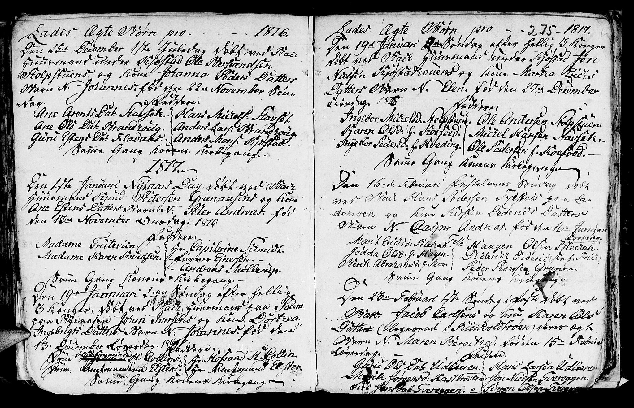 SAT, Ministerialprotokoller, klokkerbøker og fødselsregistre - Sør-Trøndelag, 606/L0305: Klokkerbok nr. 606C01, 1757-1819, s. 275