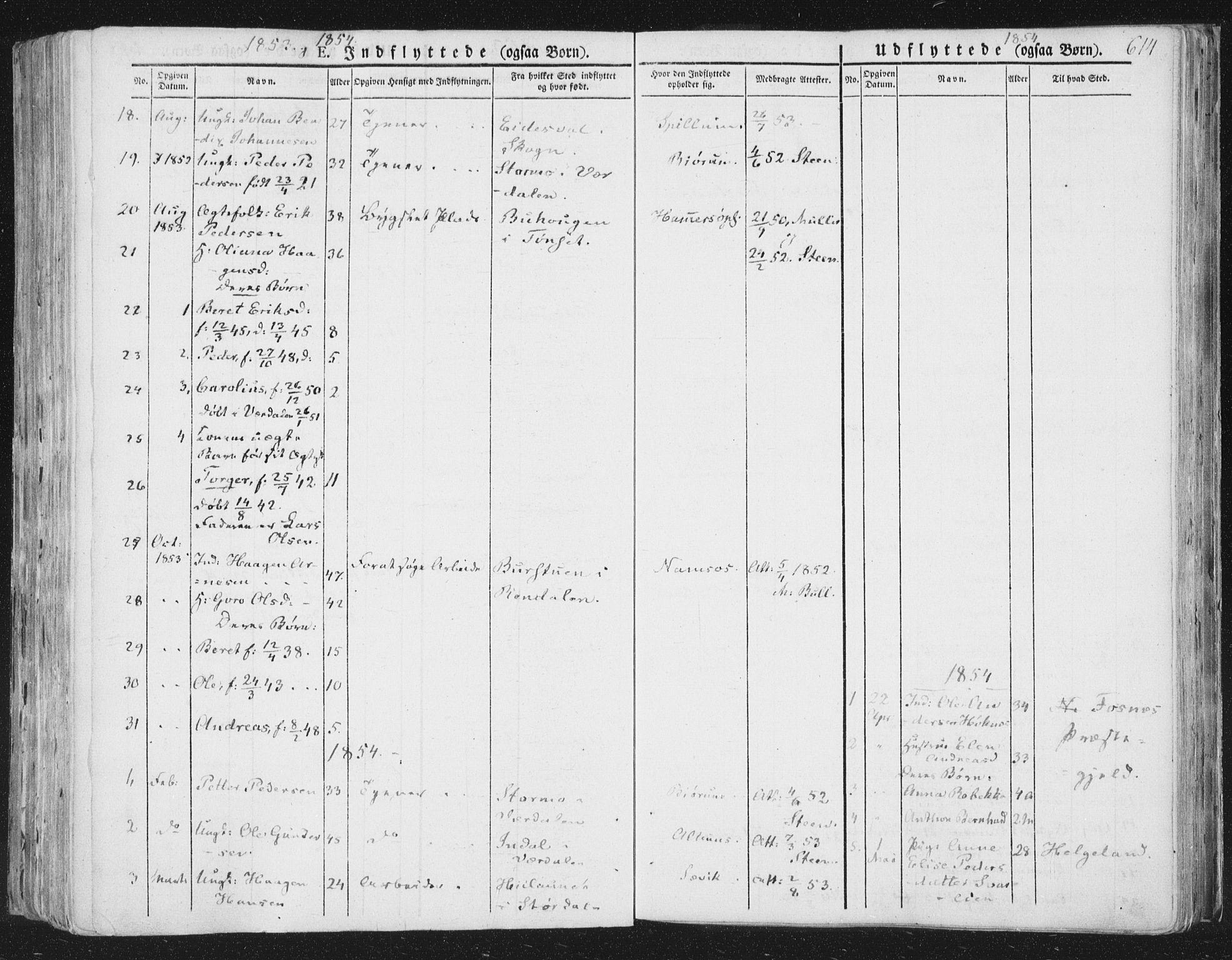 SAT, Ministerialprotokoller, klokkerbøker og fødselsregistre - Nord-Trøndelag, 764/L0552: Ministerialbok nr. 764A07b, 1824-1865, s. 614