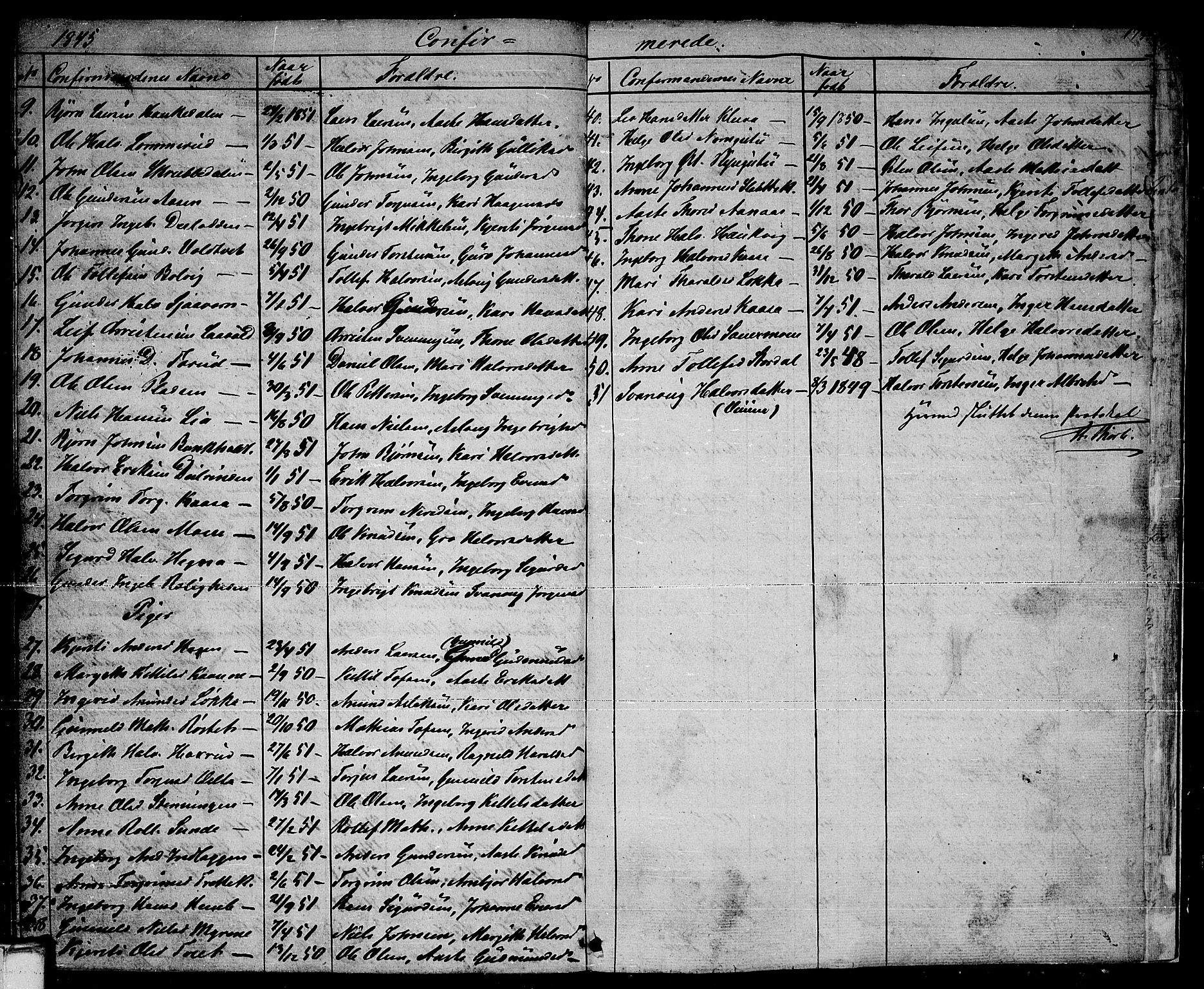 SAKO, Sauherad kirkebøker, G/Ga/L0002: Klokkerbok nr. I 2, 1842-1866, s. 175