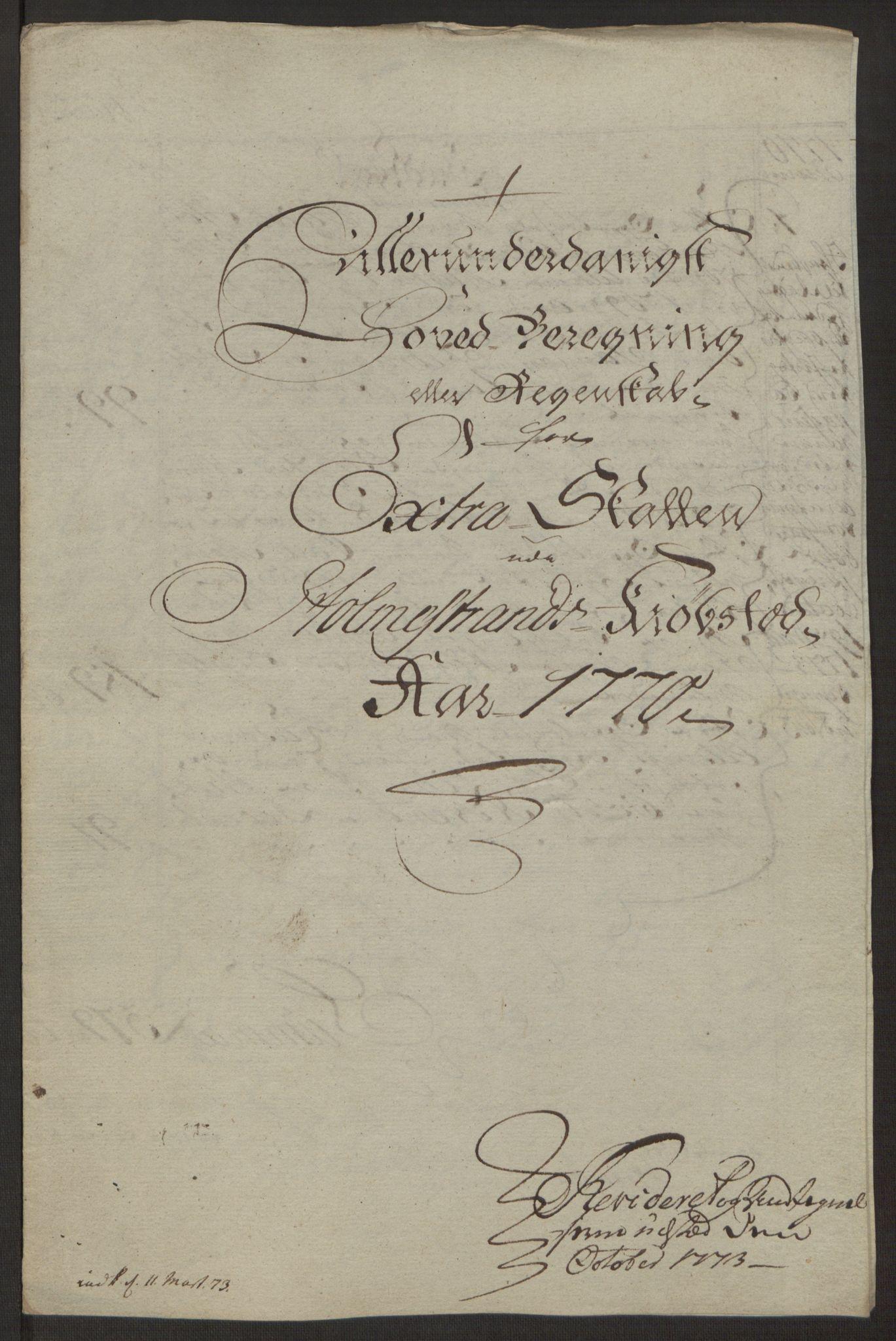 RA, Rentekammeret inntil 1814, Reviderte regnskaper, Byregnskaper, R/Rh/L0163: [H4] Kontribusjonsregnskap, 1762-1772, s. 407