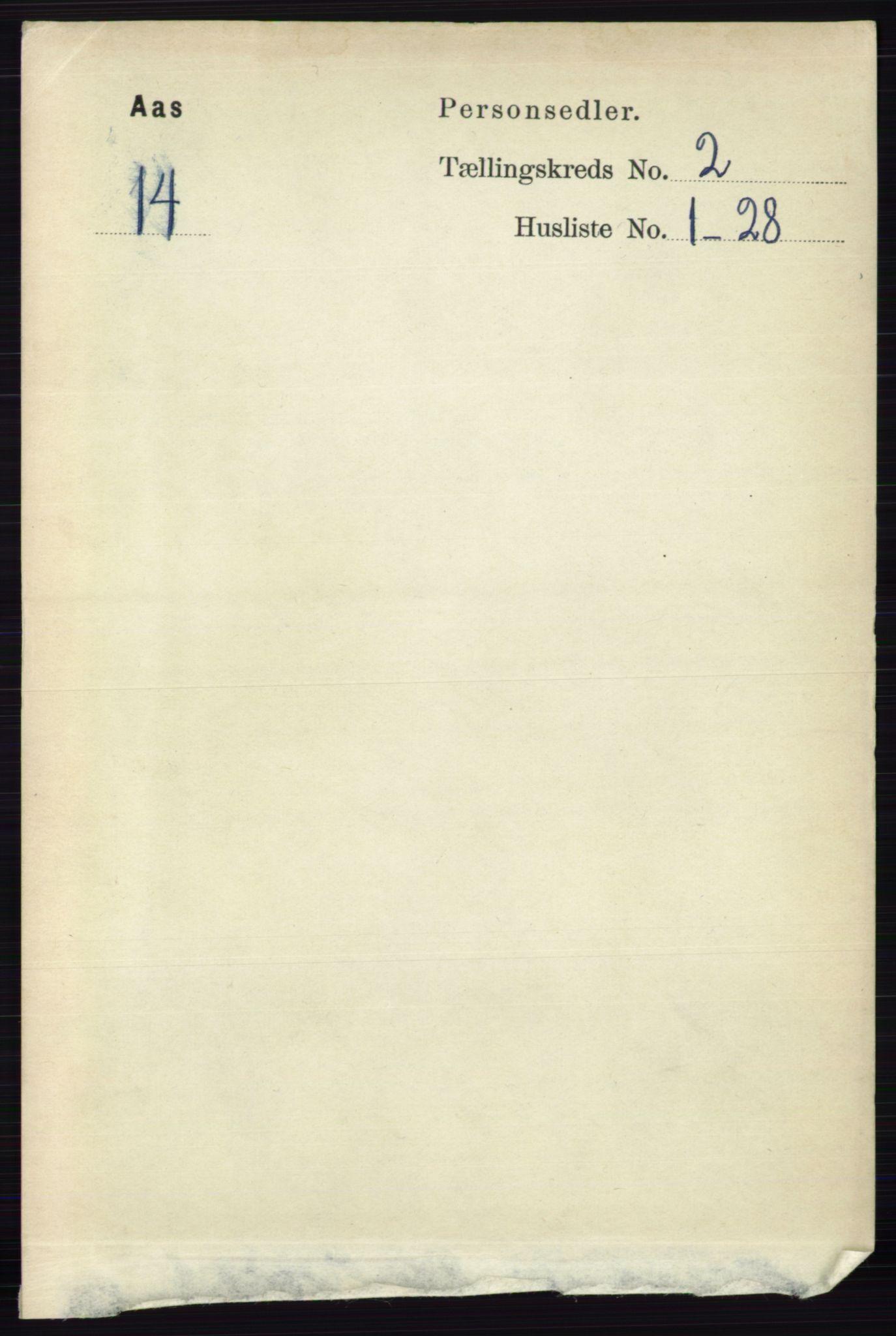 RA, Folketelling 1891 for 0214 Ås herred, 1891, s. 1574