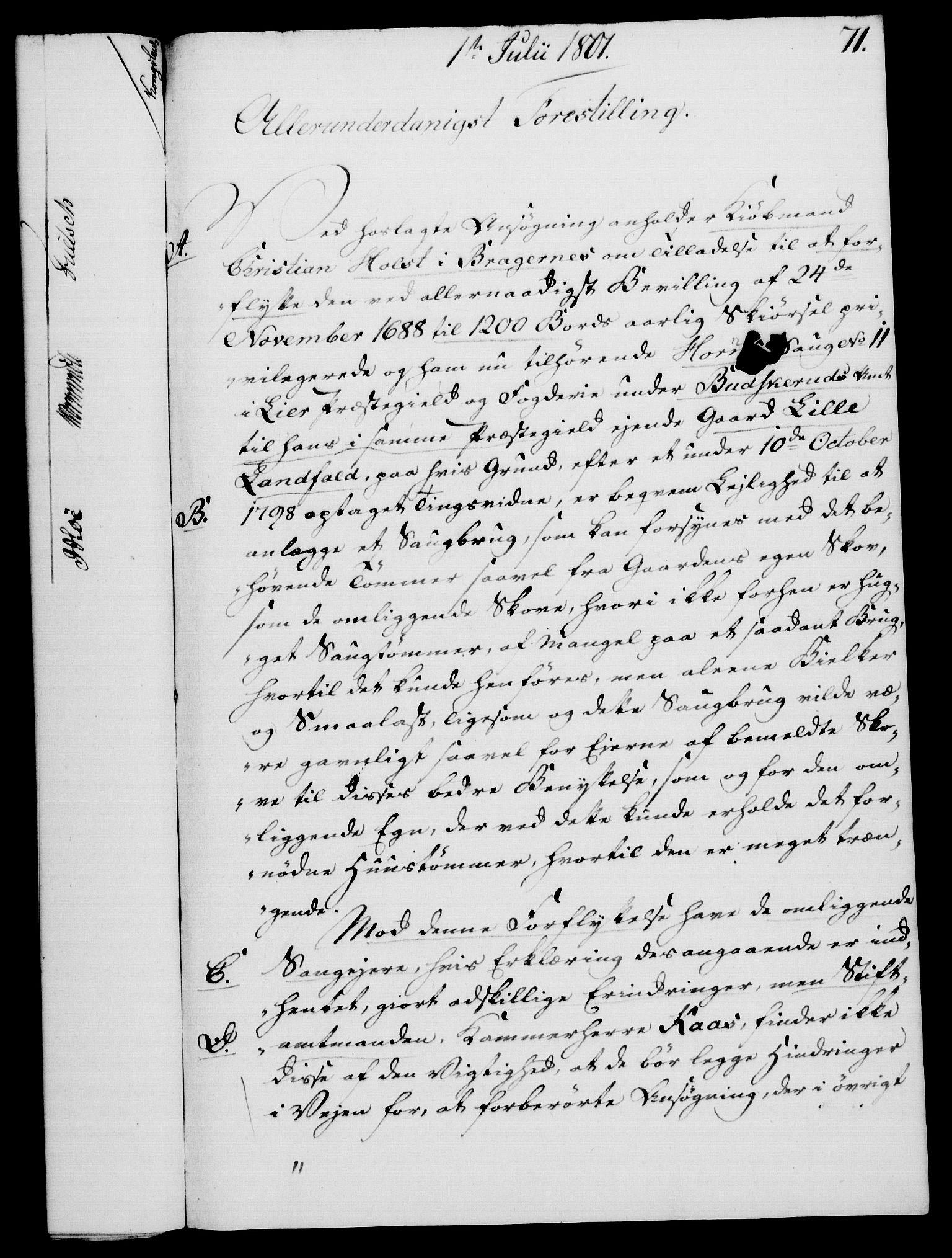 RA, Rentekammeret, Kammerkanselliet, G/Gf/Gfa/L0083: Norsk relasjons- og resolusjonsprotokoll (merket RK 52.83), 1801, s. 418