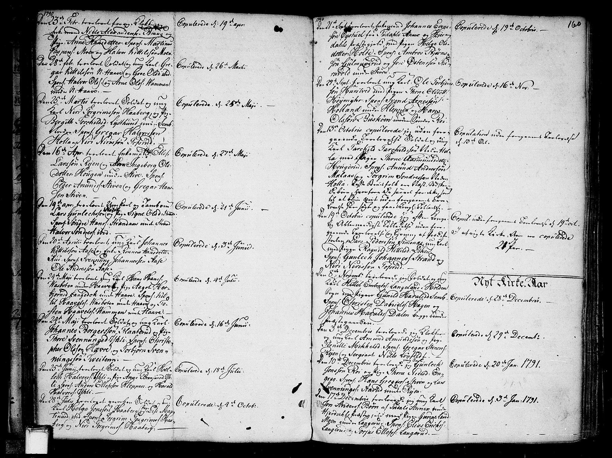 SAKO, Heddal kirkebøker, F/Fa/L0004: Ministerialbok nr. I 4, 1784-1814, s. 160