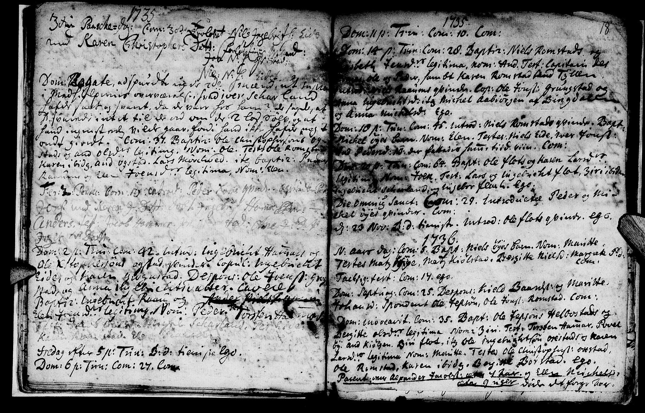 SAT, Ministerialprotokoller, klokkerbøker og fødselsregistre - Nord-Trøndelag, 765/L0560: Ministerialbok nr. 765A01, 1706-1748, s. 18