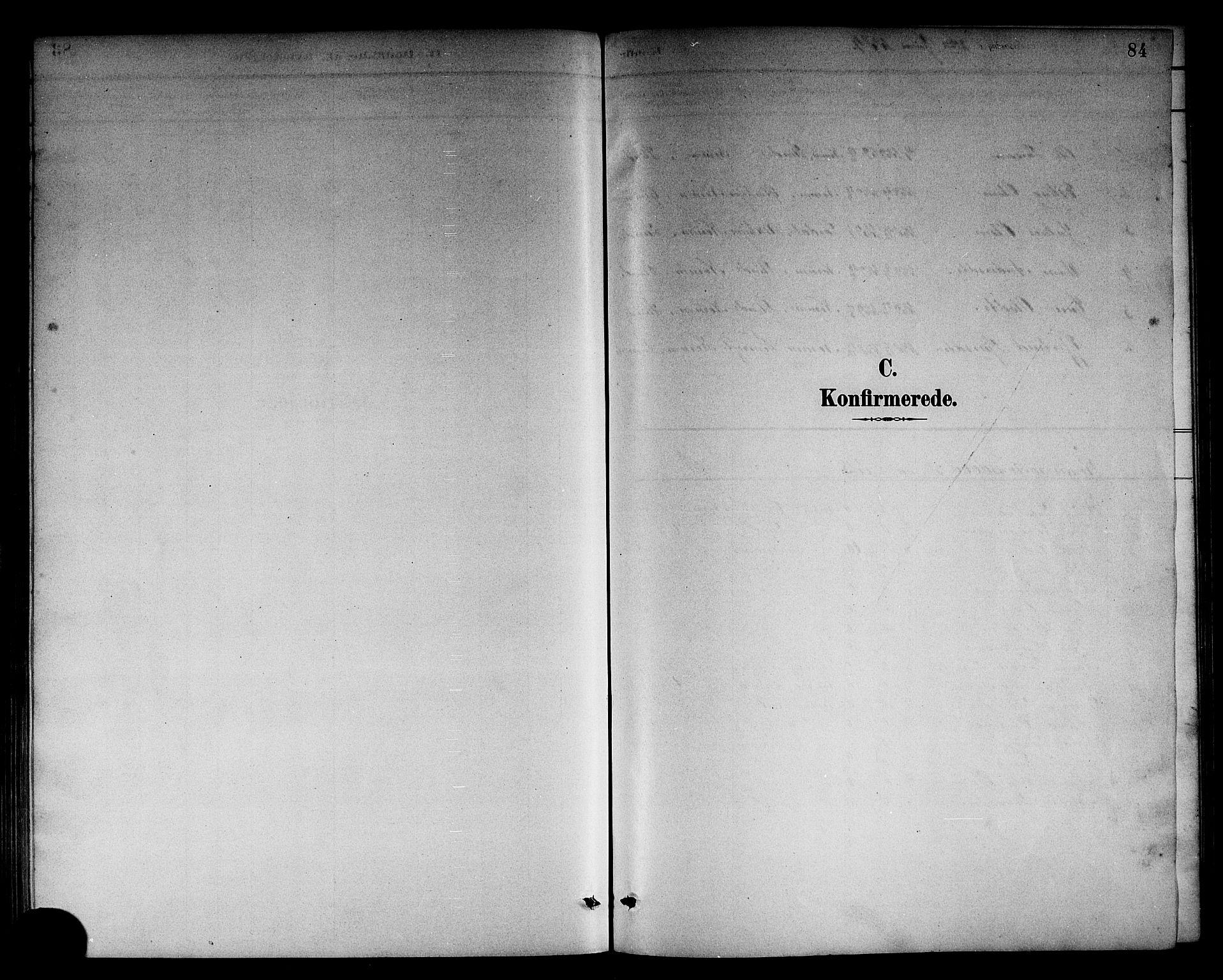 SAB, Sogndal Sokneprestembete, H/Hab/Habc/L0002: Klokkerbok nr. C 2, 1884-1910, s. 84