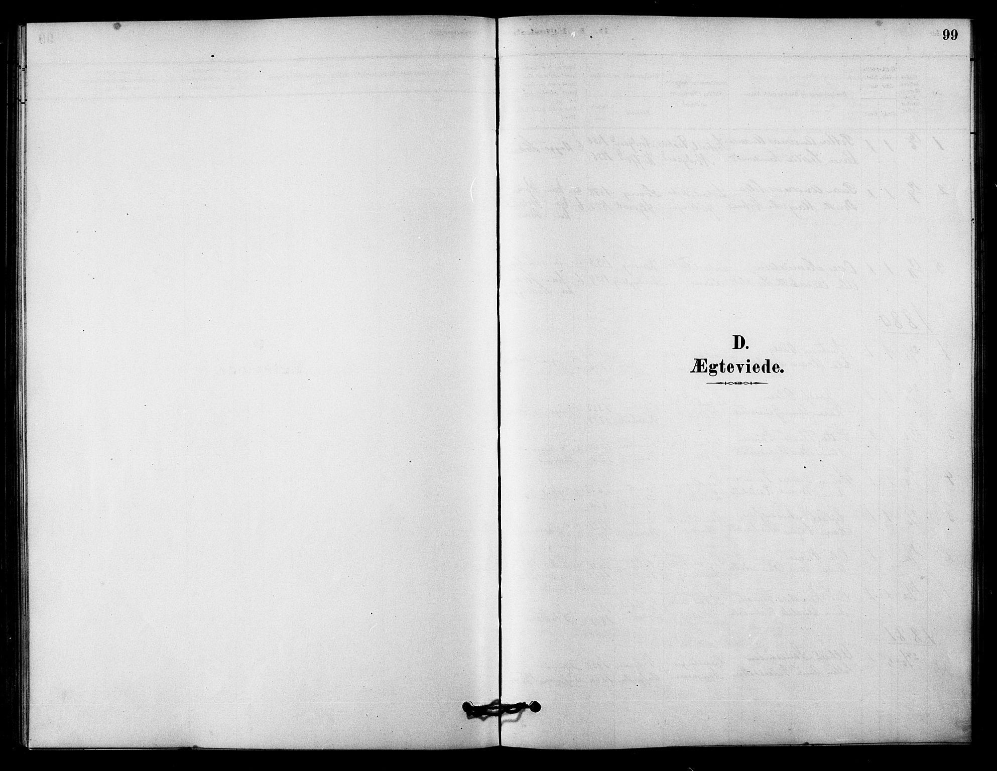 SAT, Ministerialprotokoller, klokkerbøker og fødselsregistre - Sør-Trøndelag, 656/L0692: Ministerialbok nr. 656A01, 1879-1893, s. 99