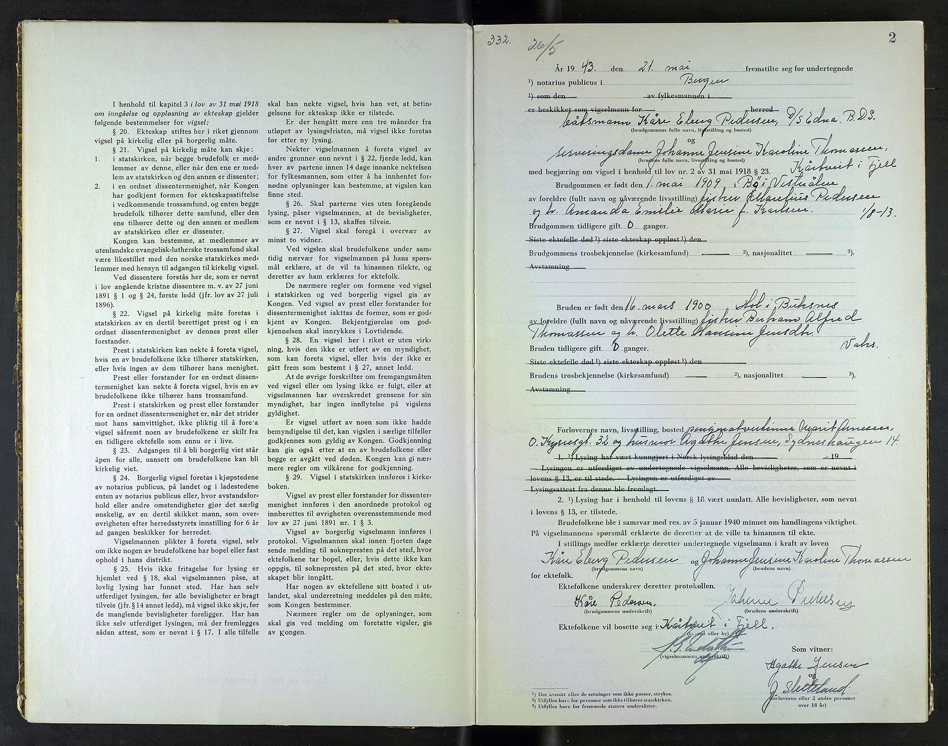 SAB, Bergen byfogd og byskriver*, 1943, s. 2