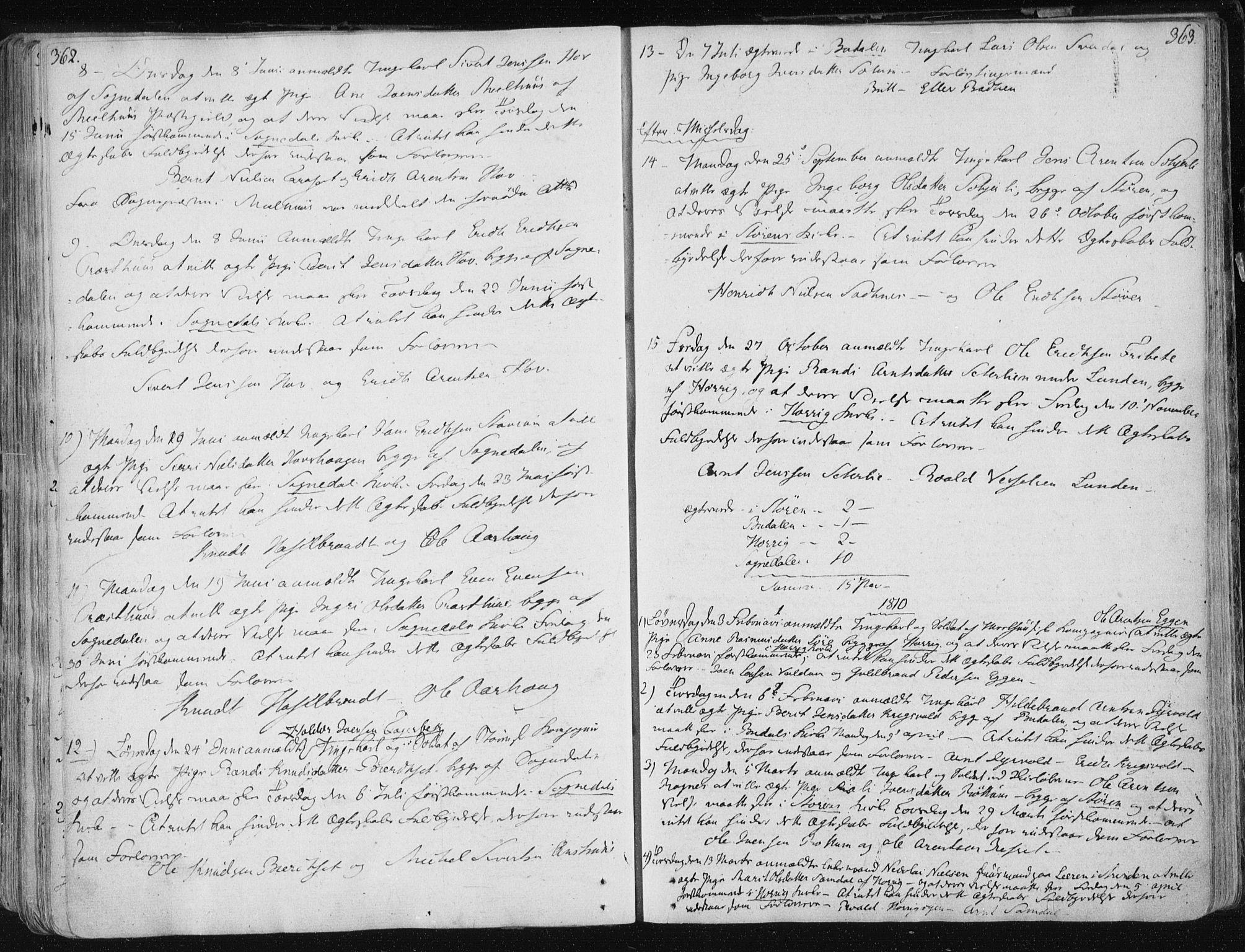 SAT, Ministerialprotokoller, klokkerbøker og fødselsregistre - Sør-Trøndelag, 687/L0992: Ministerialbok nr. 687A03 /1, 1788-1815, s. 362-363
