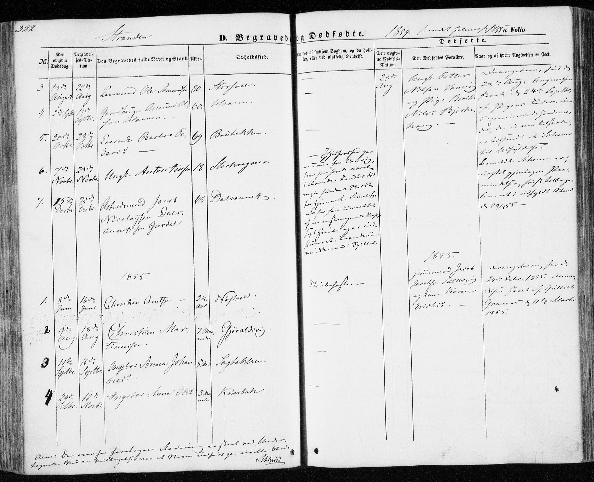 SAT, Ministerialprotokoller, klokkerbøker og fødselsregistre - Nord-Trøndelag, 701/L0008: Ministerialbok nr. 701A08 /2, 1854-1863, s. 322
